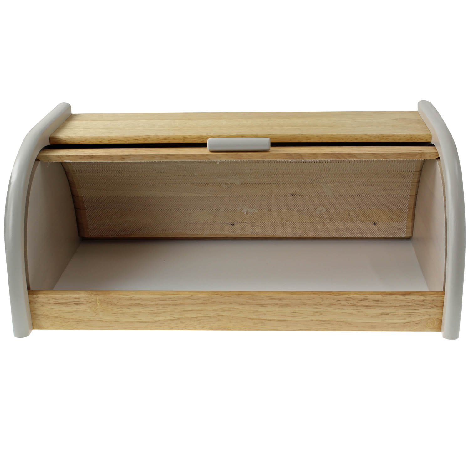 Details About Wooden Loaf Bread Bin Kitchen Drop Down Front Lid Food Storage Container Grey