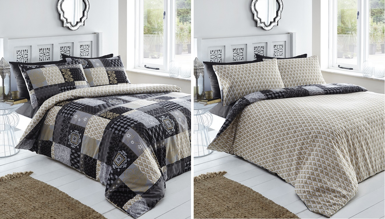 Abstract-Ethnic-Indian-Patchwork-Duvet-Quilt-Cover-Bedding-Bed-cuisine-set-Remi