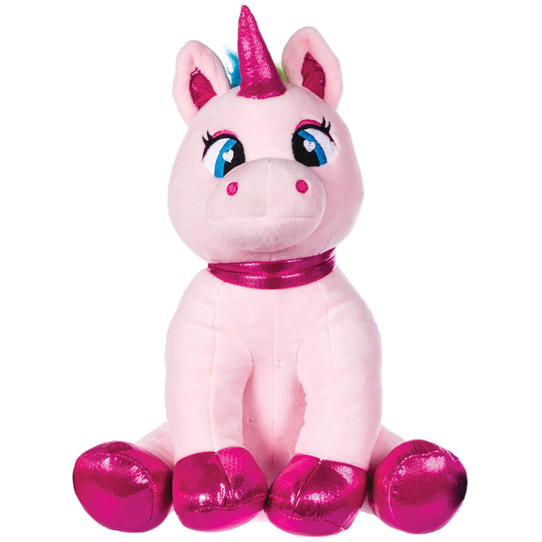 26cm Paws Pink Unicorn Kids Novelty Soft Plush Toy Cuddly Stuffed