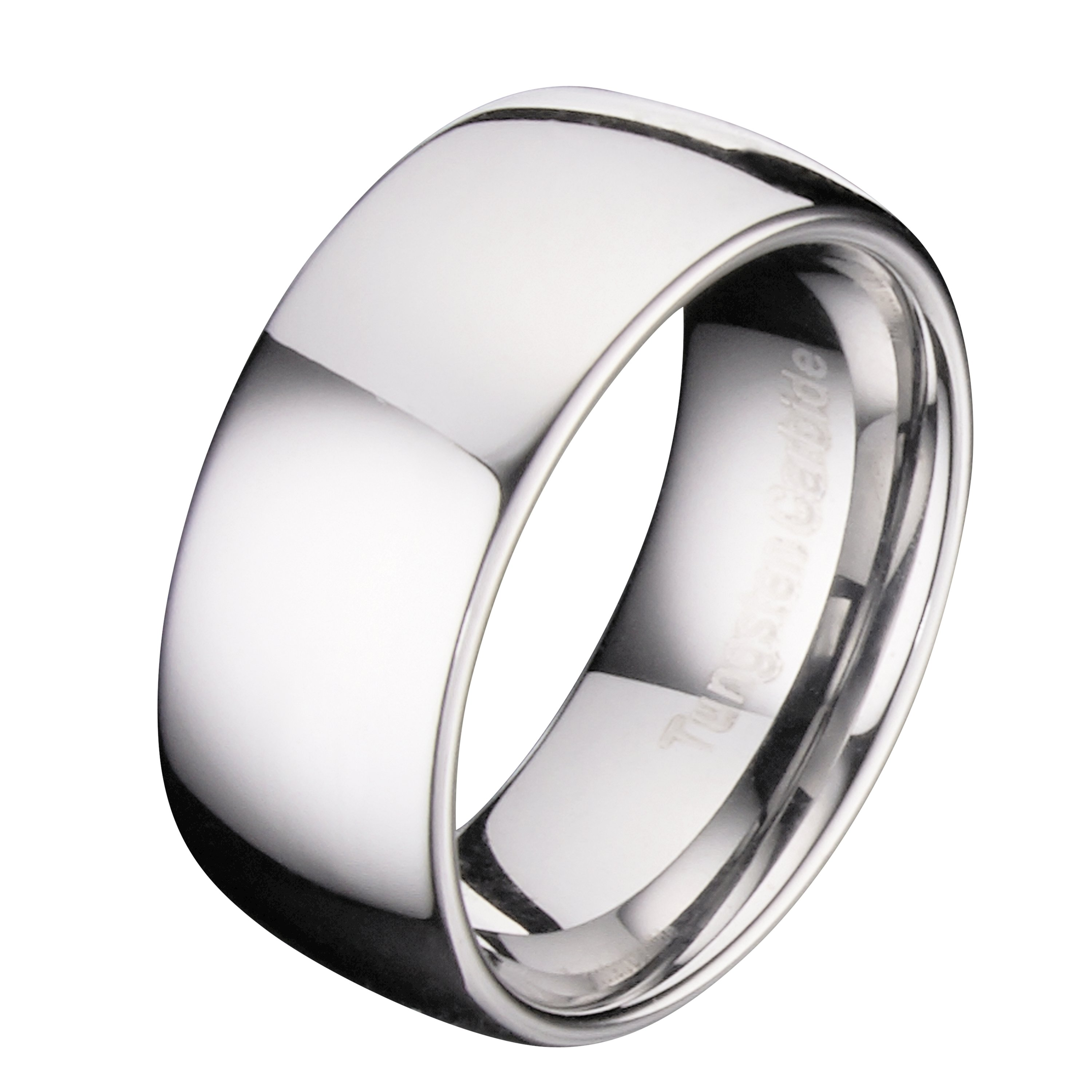 Custom-Engraving-Tungsten-Carbide-Classic-Wedding-Ring-Polished-3mm-to-10mm-Band