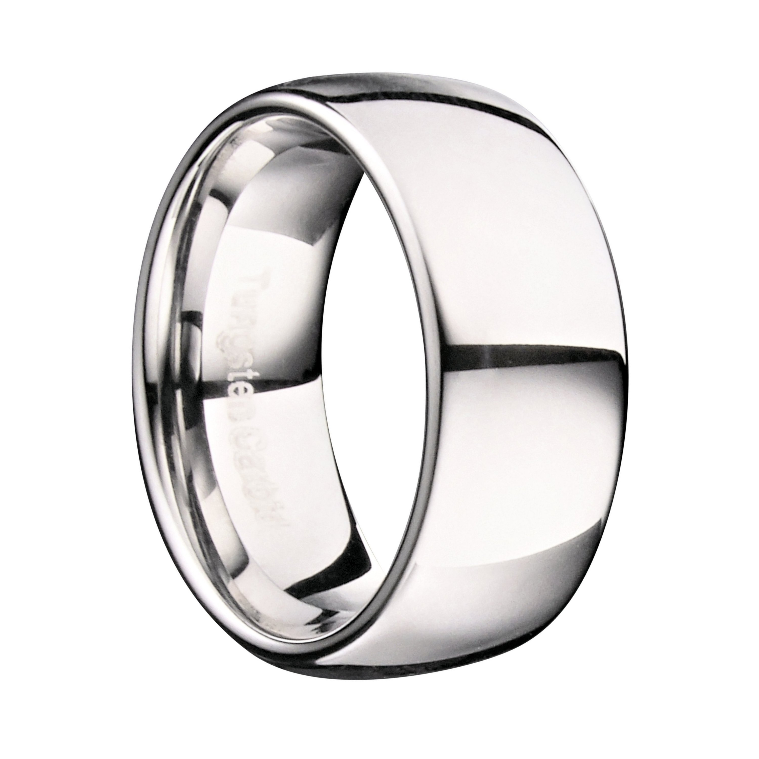 Custom-Engraving-Tungsten-Carbide-Classic-Wedding-Ring-Polished-3mm-to-10mm-Band thumbnail 8