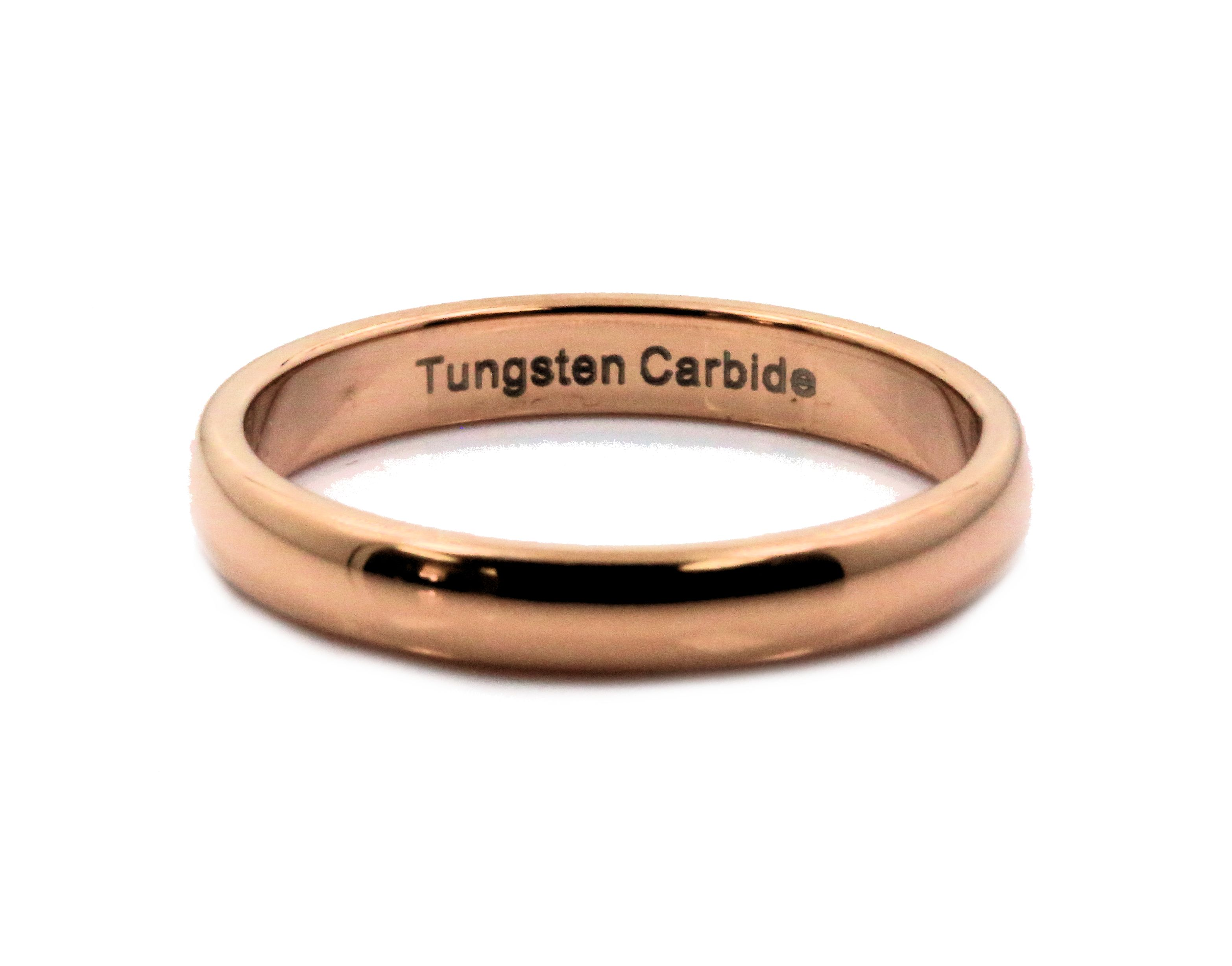 2-3-4-or-6mm-Rose-Gold-Plated-Ring-Tungsten-Carbide-Wedding-Band thumbnail 11