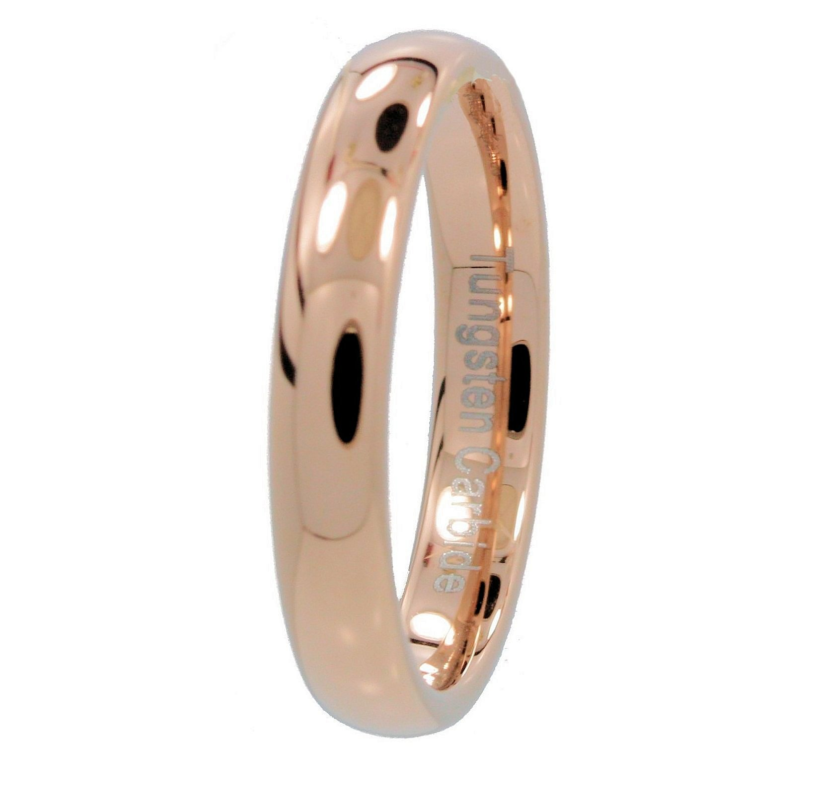 2-3-4-or-6mm-Rose-Gold-Plated-Ring-Tungsten-Carbide-Wedding-Band thumbnail 16