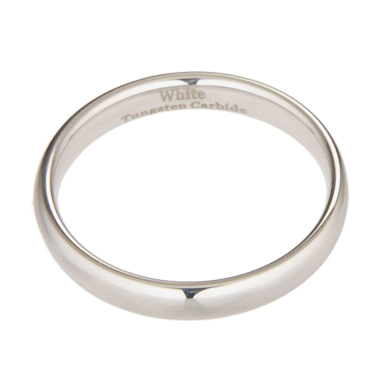 3 White Tungsten Carbide Wedding Ring Mens Womens 2 4 5 10mm 8 6 7