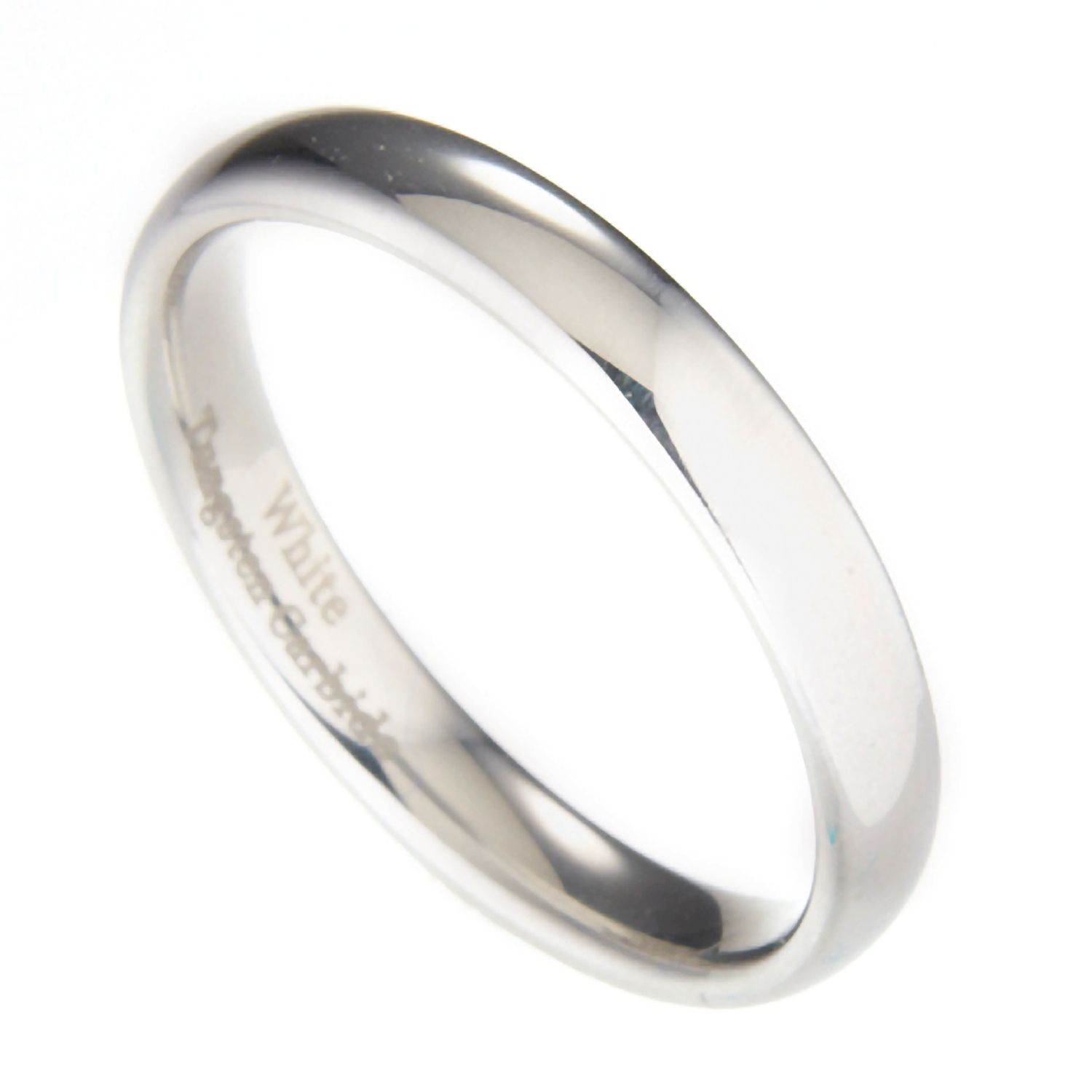 3mm-10mm-White-Tungsten-Carbide-Polished-Wedding-Ring thumbnail 24