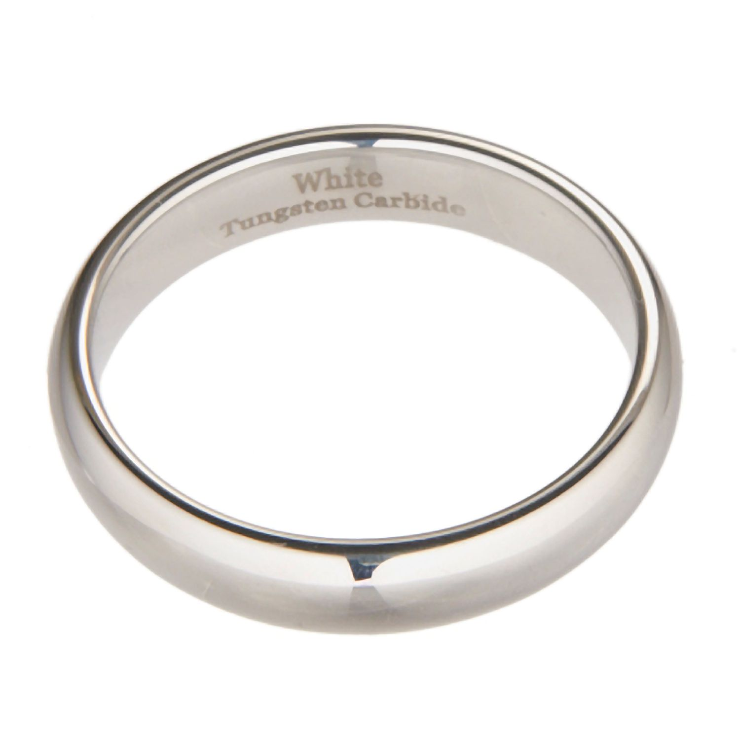 3mm-10mm-White-Tungsten-Carbide-Polished-Wedding-Ring thumbnail 29