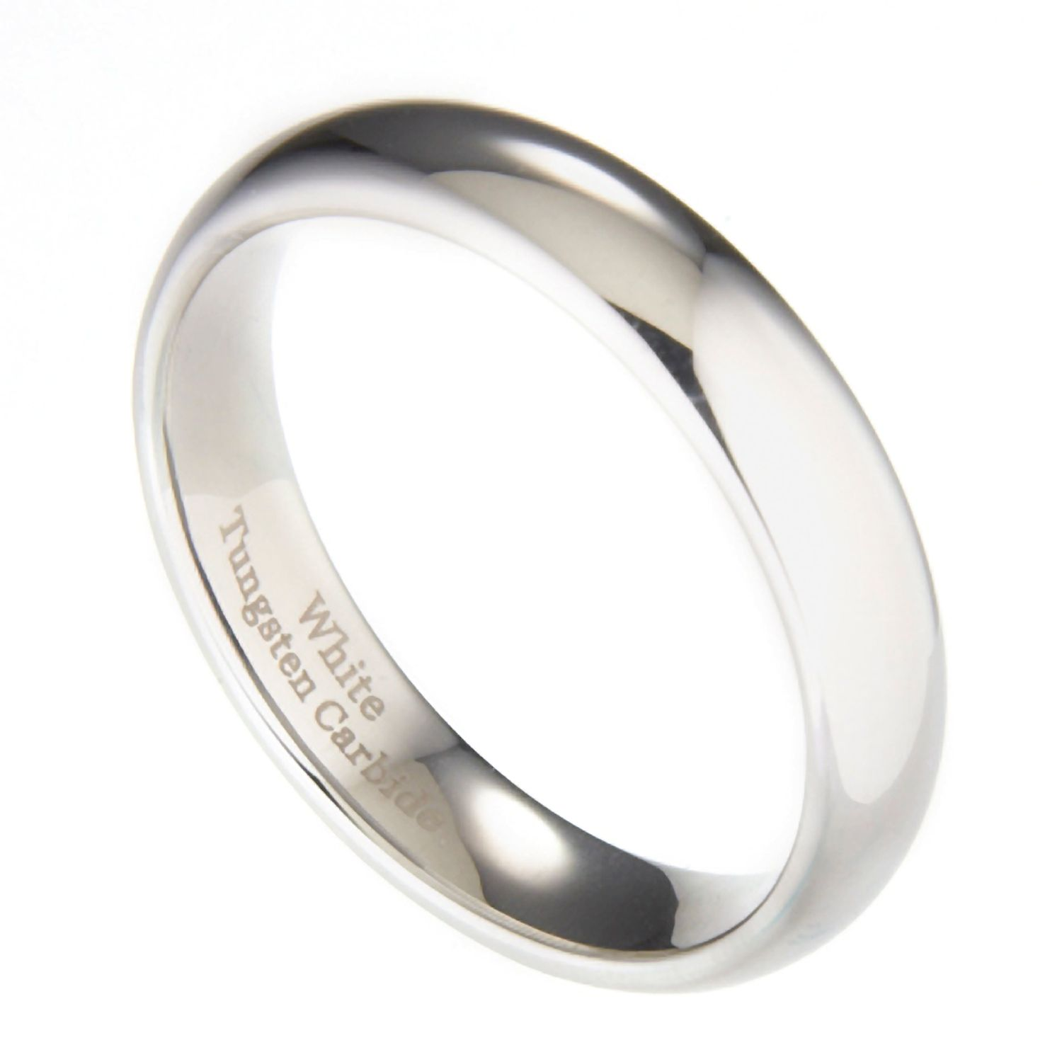 3mm-10mm-White-Tungsten-Carbide-Polished-Wedding-Ring thumbnail 30
