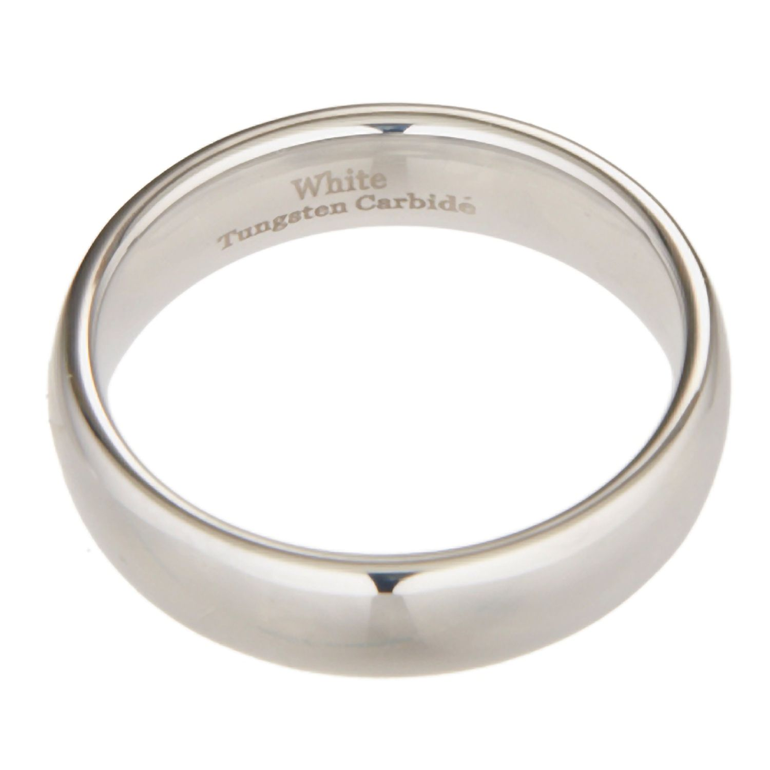 3mm-10mm-White-Tungsten-Carbide-Polished-Wedding-Ring thumbnail 35