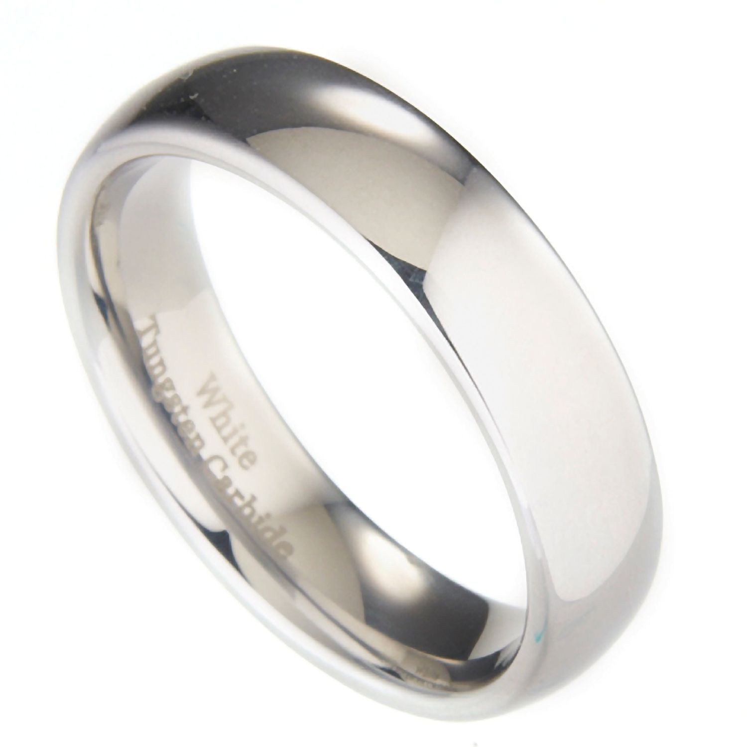 3mm-10mm-White-Tungsten-Carbide-Polished-Wedding-Ring thumbnail 36