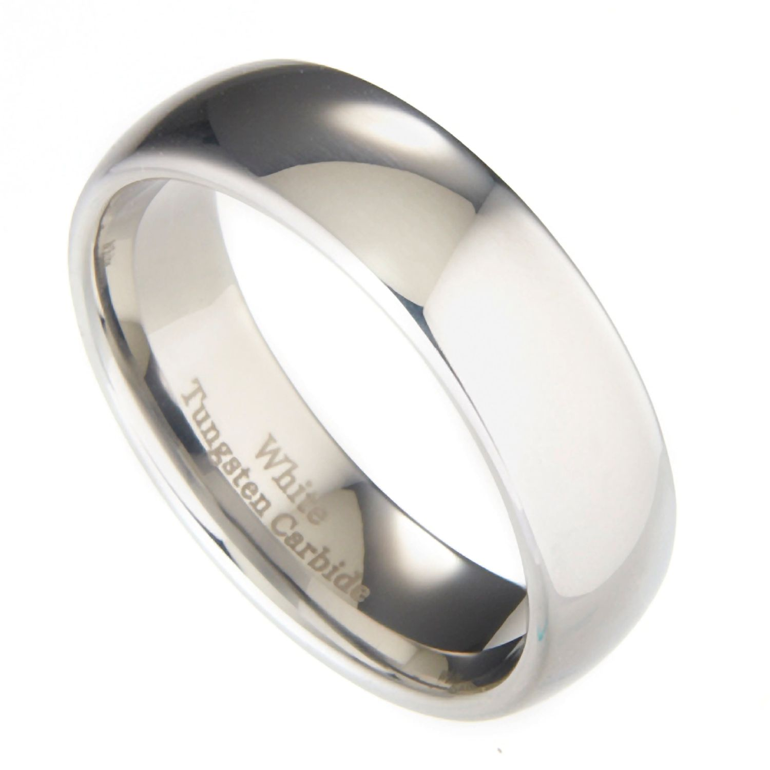 3mm-10mm-White-Tungsten-Carbide-Polished-Wedding-Ring thumbnail 42