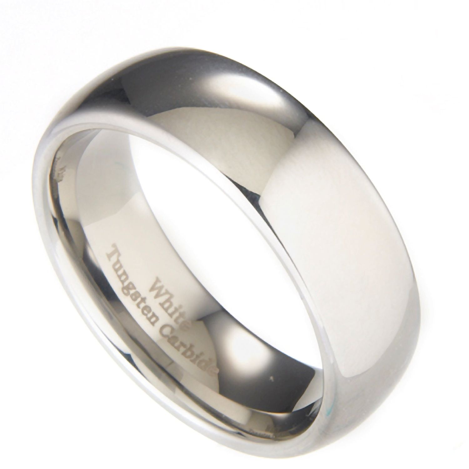3mm-10mm-White-Tungsten-Carbide-Polished-Wedding-Ring thumbnail 48