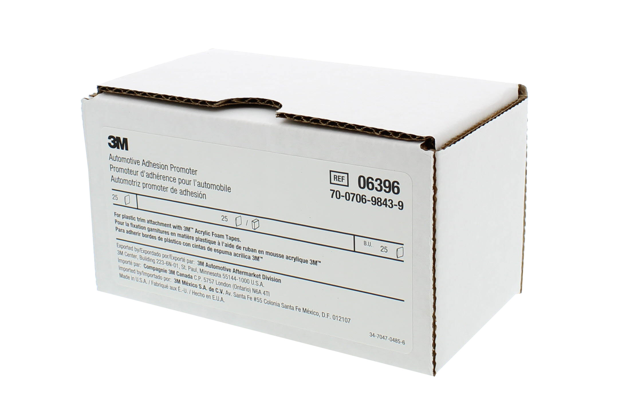 06396 10 single packets 2.5 cc 3M™ 6396 Adhesion Promoter Sponge Applicator
