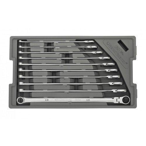 GearWrench 86126 10 Piece 120XP Spline XL Flex GearBox Ratcheting Wrench Set