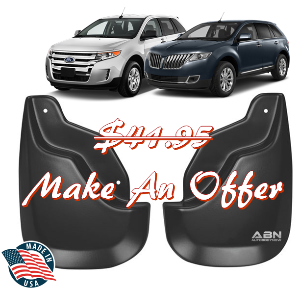 Image Is Loading Husky Black Front Mud Guards   Lincoln