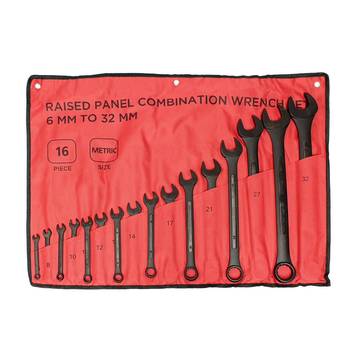 ABN-Combination-Wrench-Set-16-Pc-Raised-Panel-Jumbo-Wrench-Set-Black miniature 10
