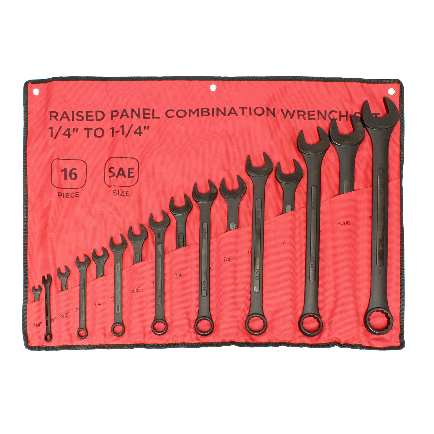 ABN-Combination-Wrench-Set-16-Pc-Raised-Panel-Jumbo-Wrench-Set-Black miniature 17