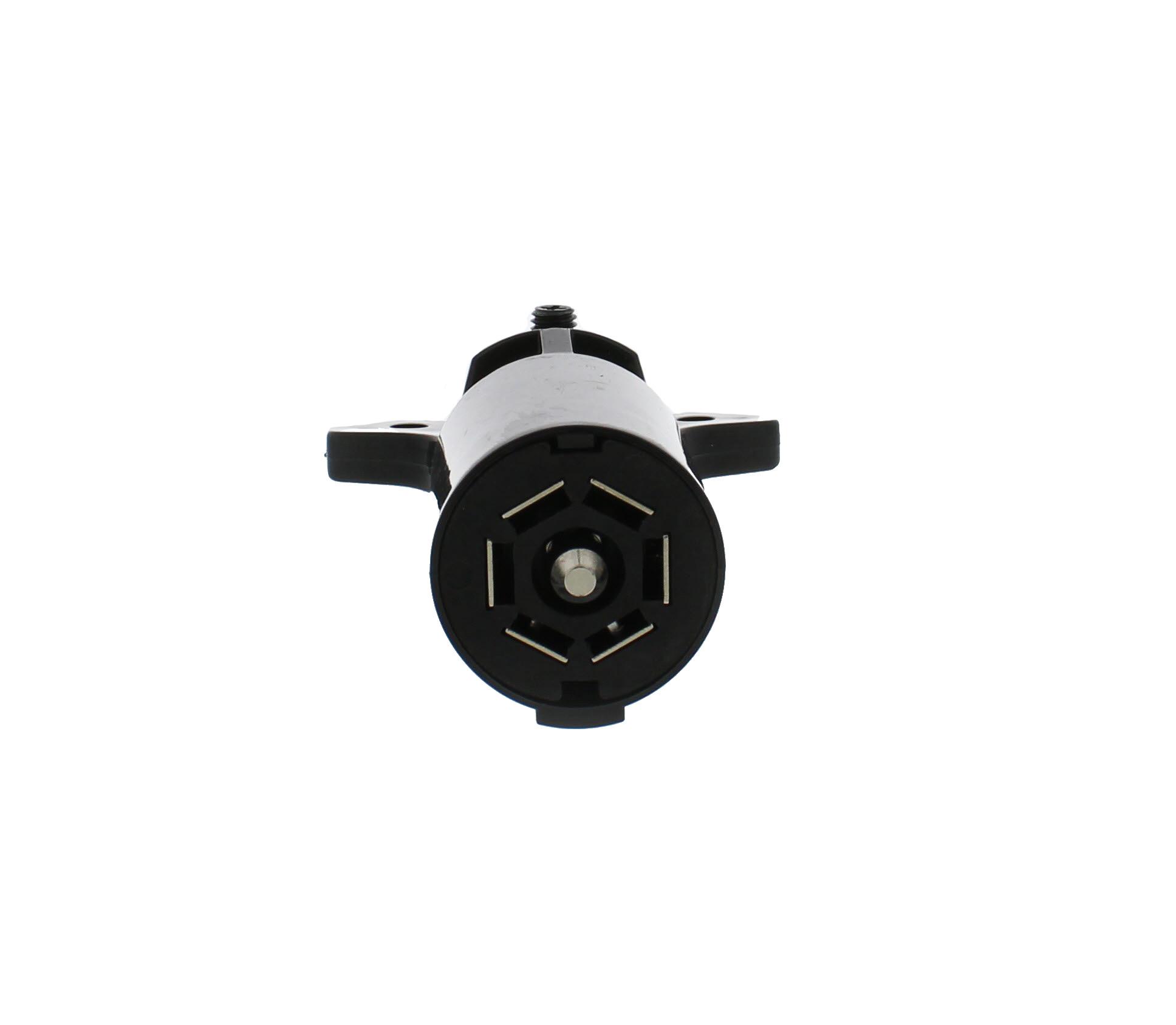 Abn 7 Pin Trailer Connector  U2013 12v 7 Way Pole Round Auto