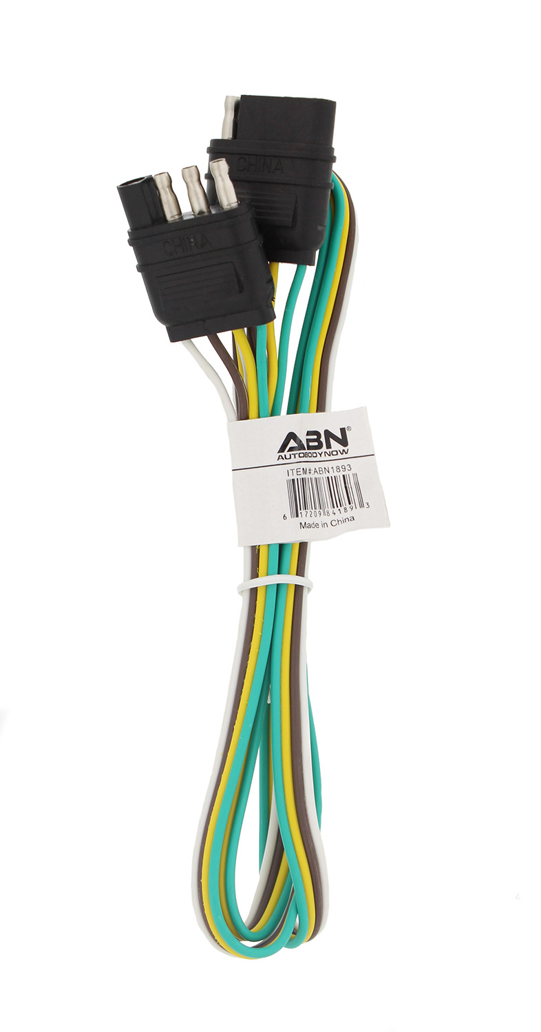 Abn Trailer Wire Extension 4 Way Pin Plug Flat Wiring Diagram Towing Motorcycle 5