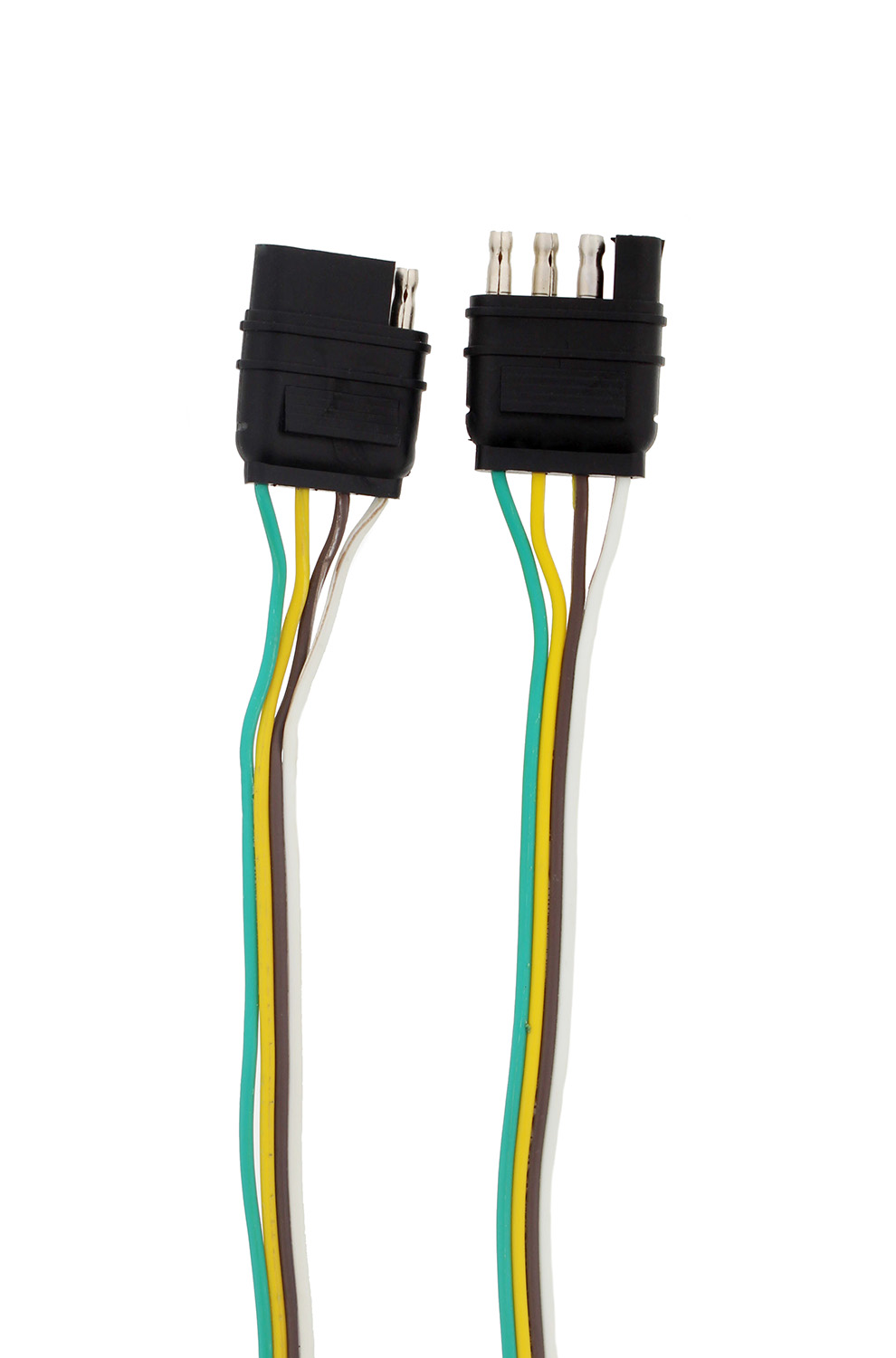 rv 4 pin trailer wiring harness abn® trailer wire extension 4-way pin plug flat trailer ...