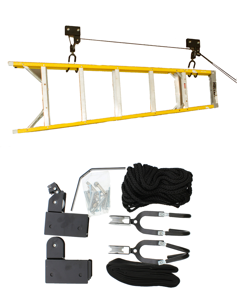 ABN support plafond vélo et Kayak Treuil dans un garage
