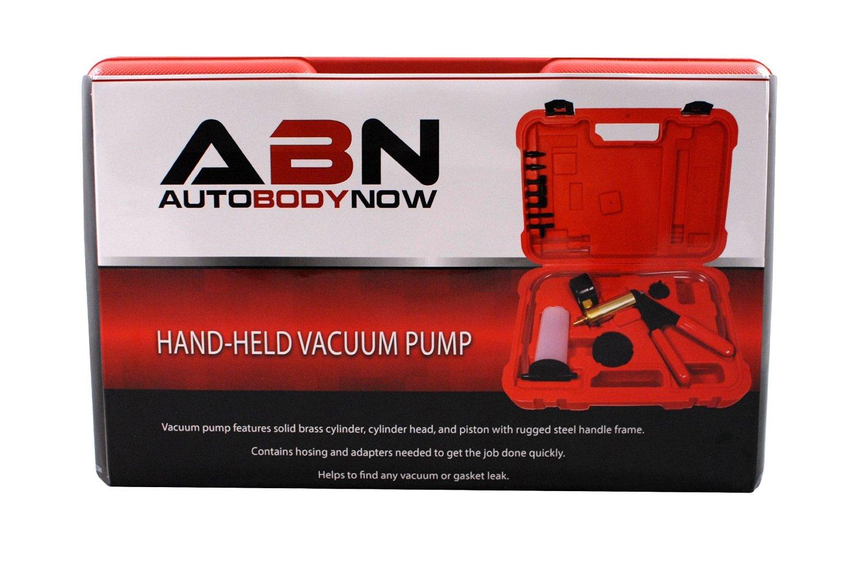 ABN Hand Held Brake Bleeder Kit Universal Auto Service Vacuum Pump Bleeding Set