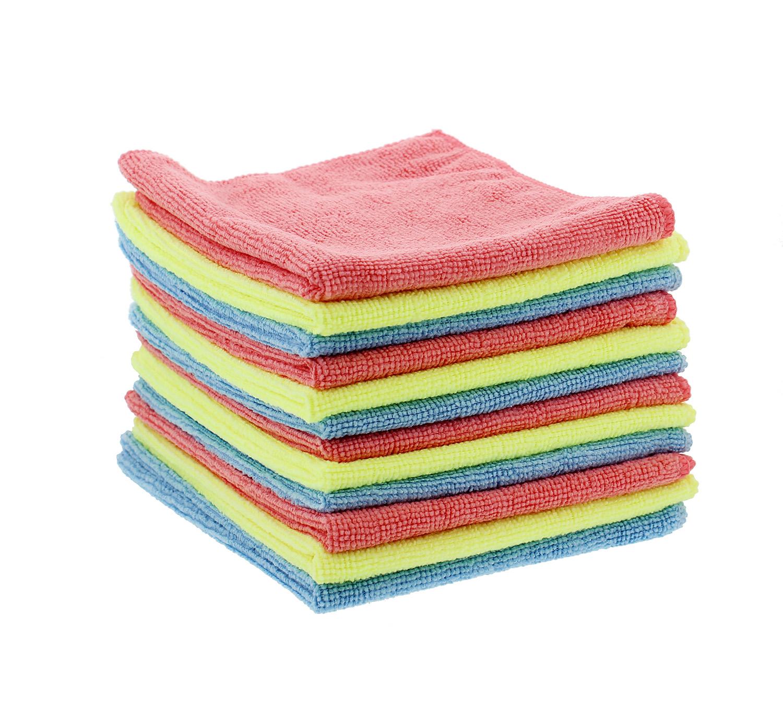 "Microfiber Cloth Ebay Uk: ABN Microfiber Cloth 12-Pack 12"" X 16"" Inches 617209839630"