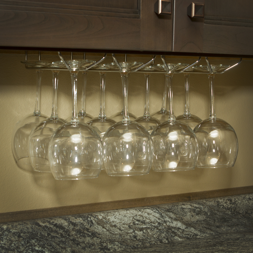 Under Cabinet Wine Glass Stemware Holder Rack With Hardware Ebay