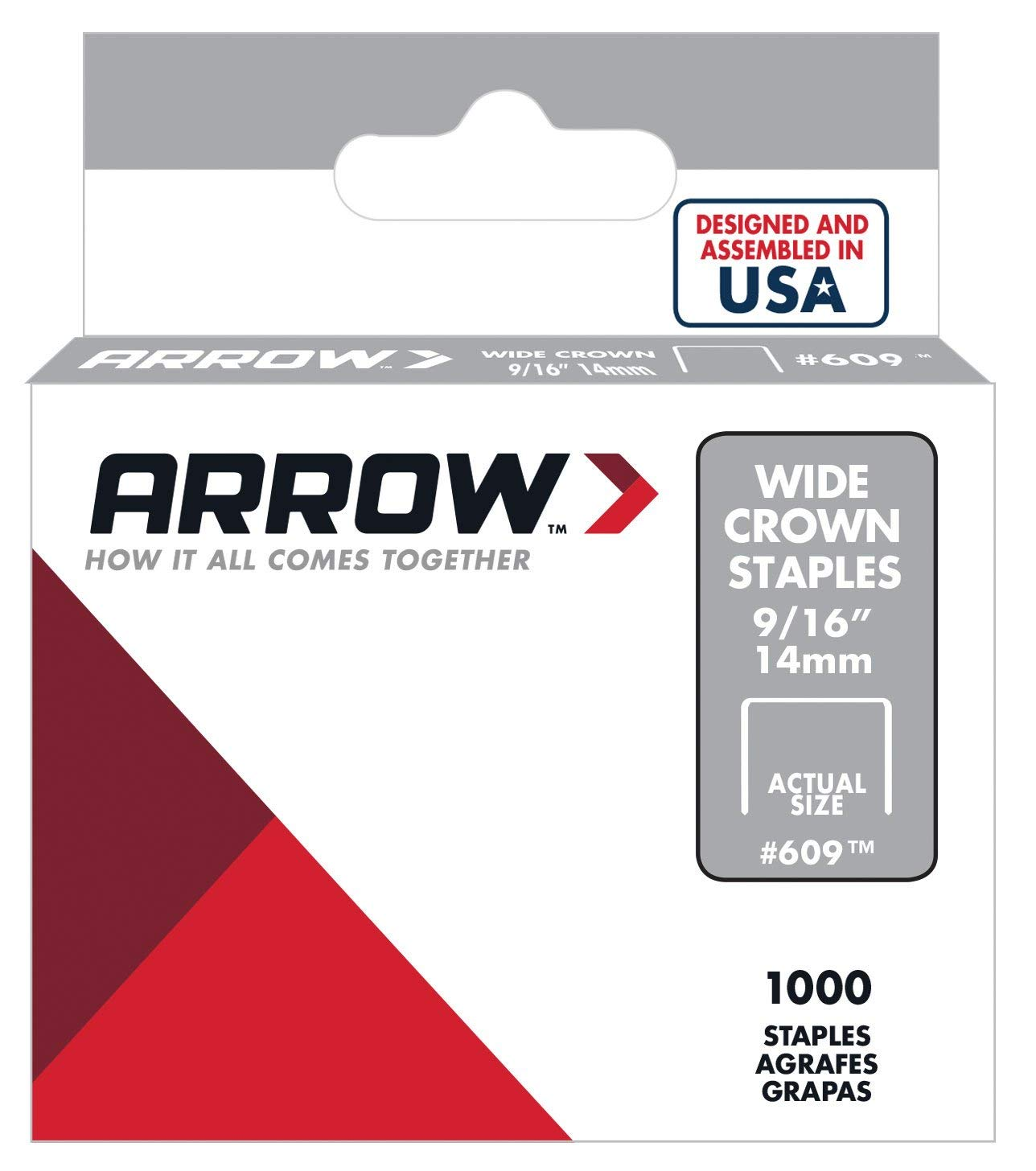 1000 ct. #7 Heavy Duty 9//16 Wire Tacker Staples