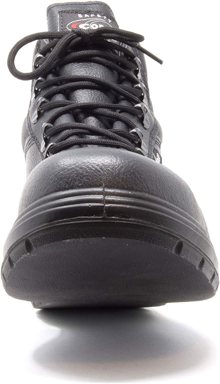Size 11,Black US ROAD Treadless Asphalt Footwear COFRA Leather Work Boots