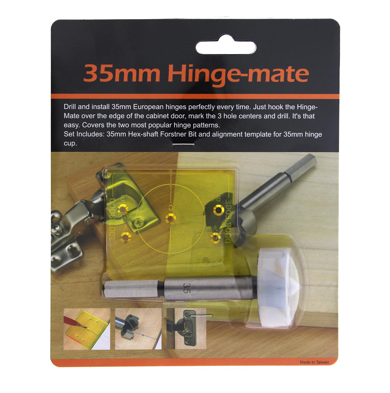 DCT Cabinet Door Hinge 35mm Template Jig Kit European Hidden Boring ...