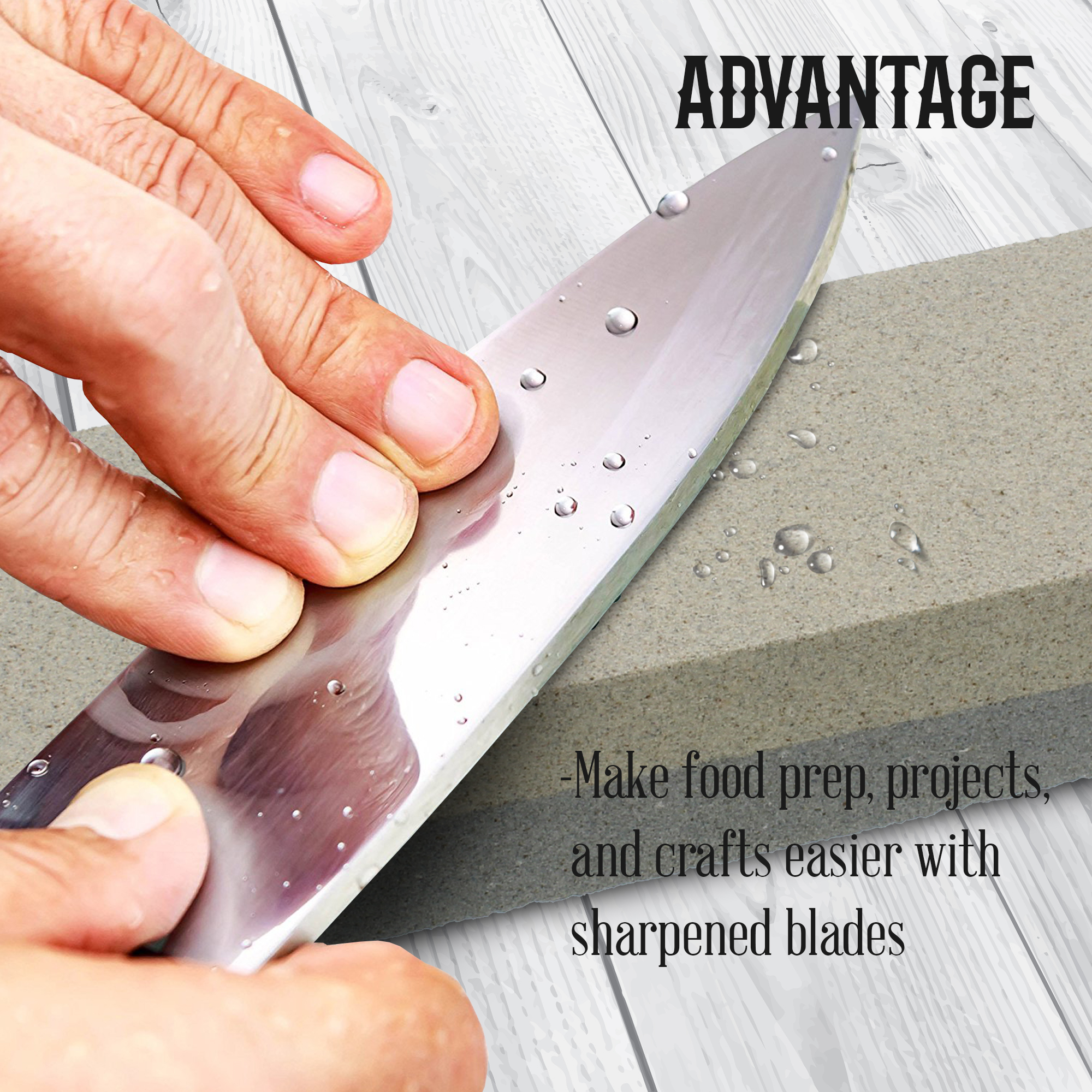 Knife-Straight-Blade-Manual-Sharpener-Tool-Dual-Grit-Sharpening-Stone thumbnail 12