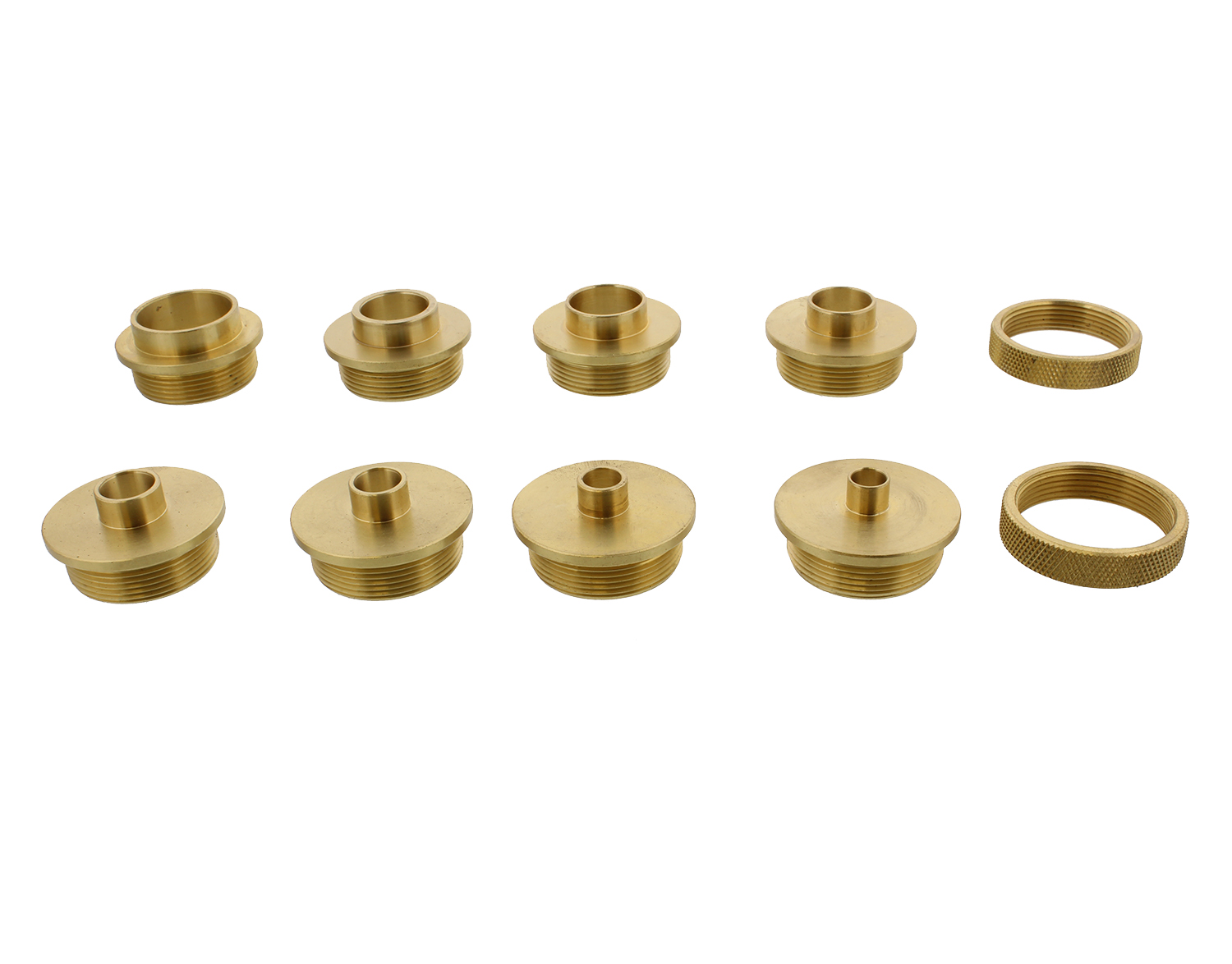Dct brass router template guides bushing lock nuts 10 for How to use router template guide bushings