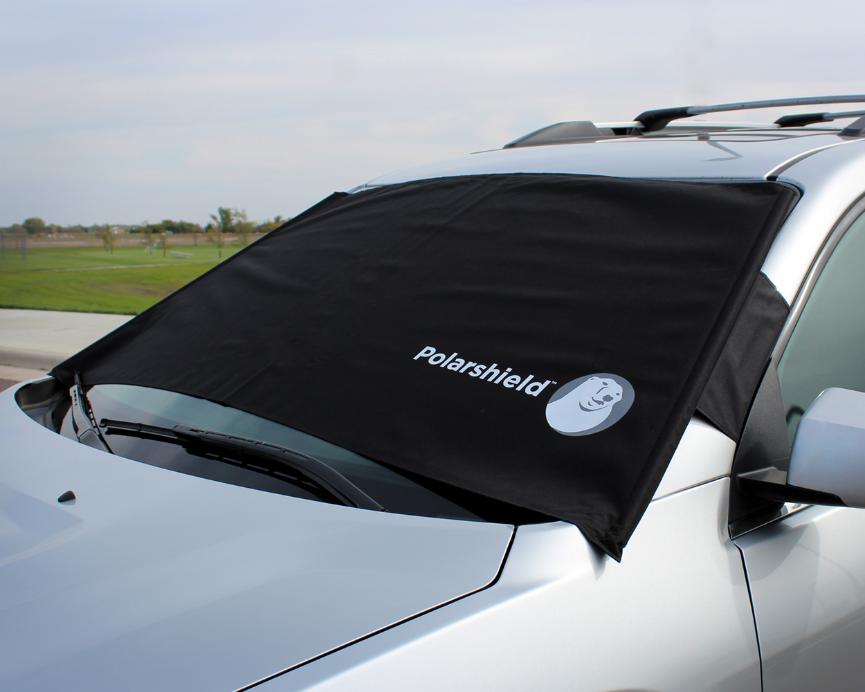 delk polarshield winter snow car wind proof windshield cover w security panels. Black Bedroom Furniture Sets. Home Design Ideas