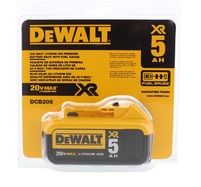 Dewalt Dcb205 20v Max Xr 5 0ah Lithium Ion Battery Pack Ebay