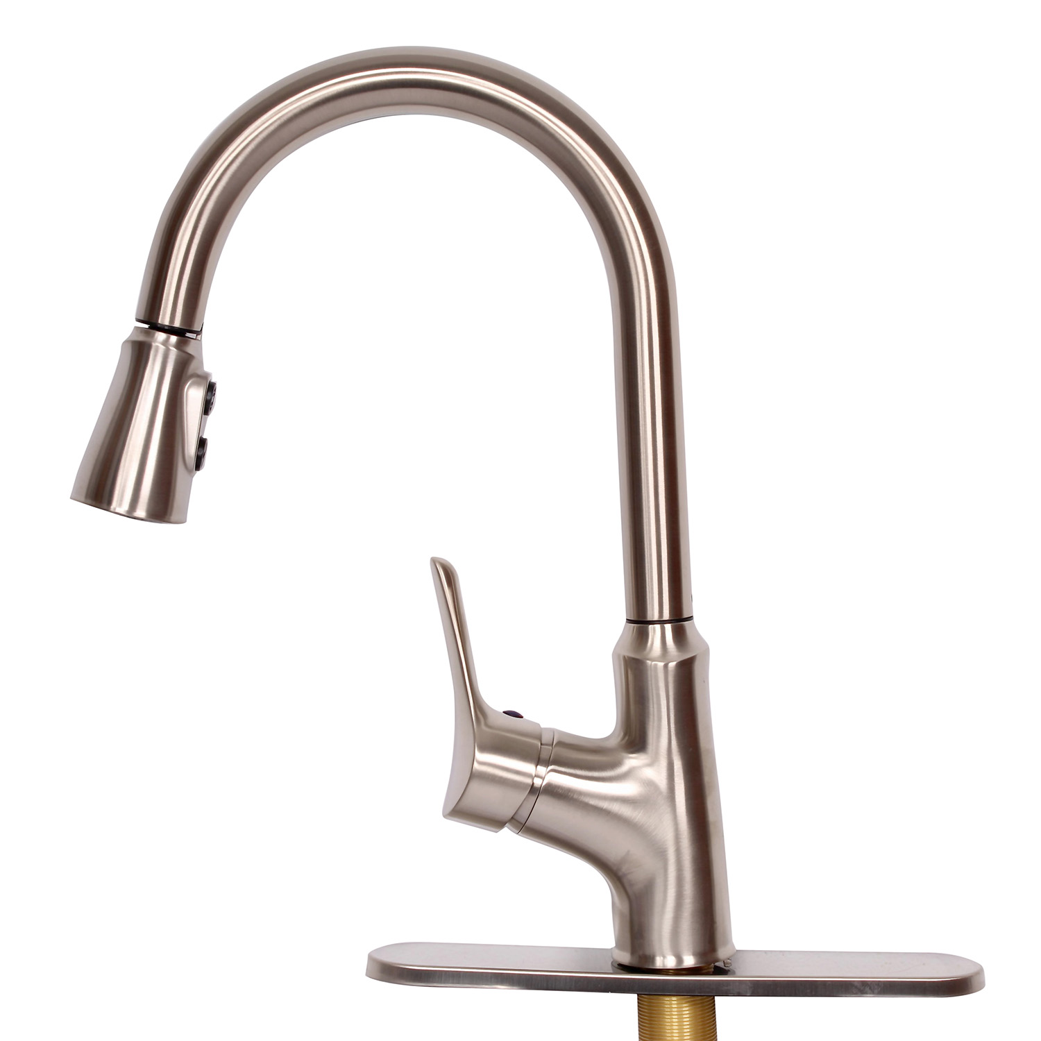 Empire Faucets Rv Kitchen Faucet Head Replacement And Deck Plate Nickel Ebay