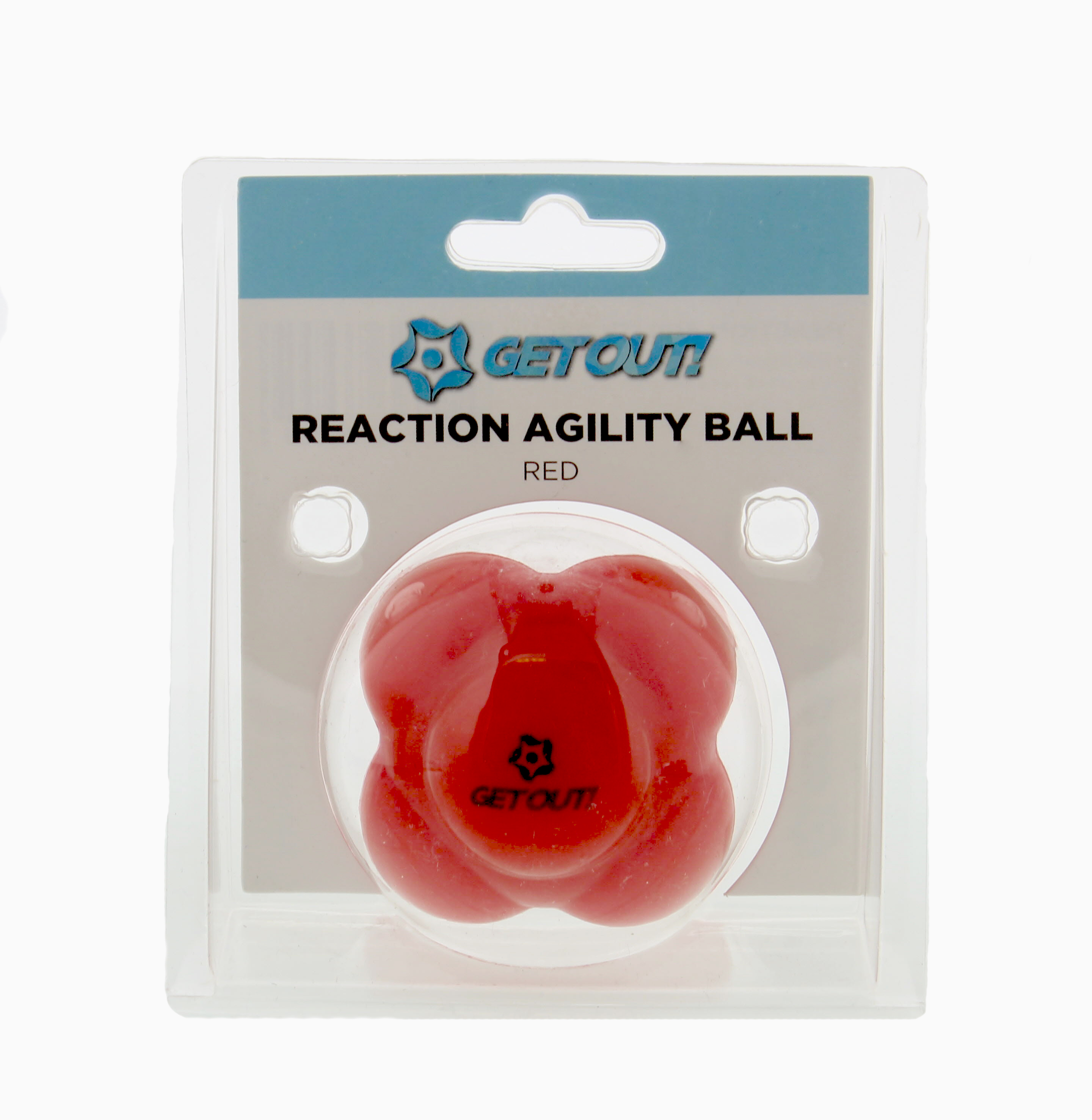 GetOut!™  Baseball Agility Reaction Ball Develops Hand-Eye Coordination in Red