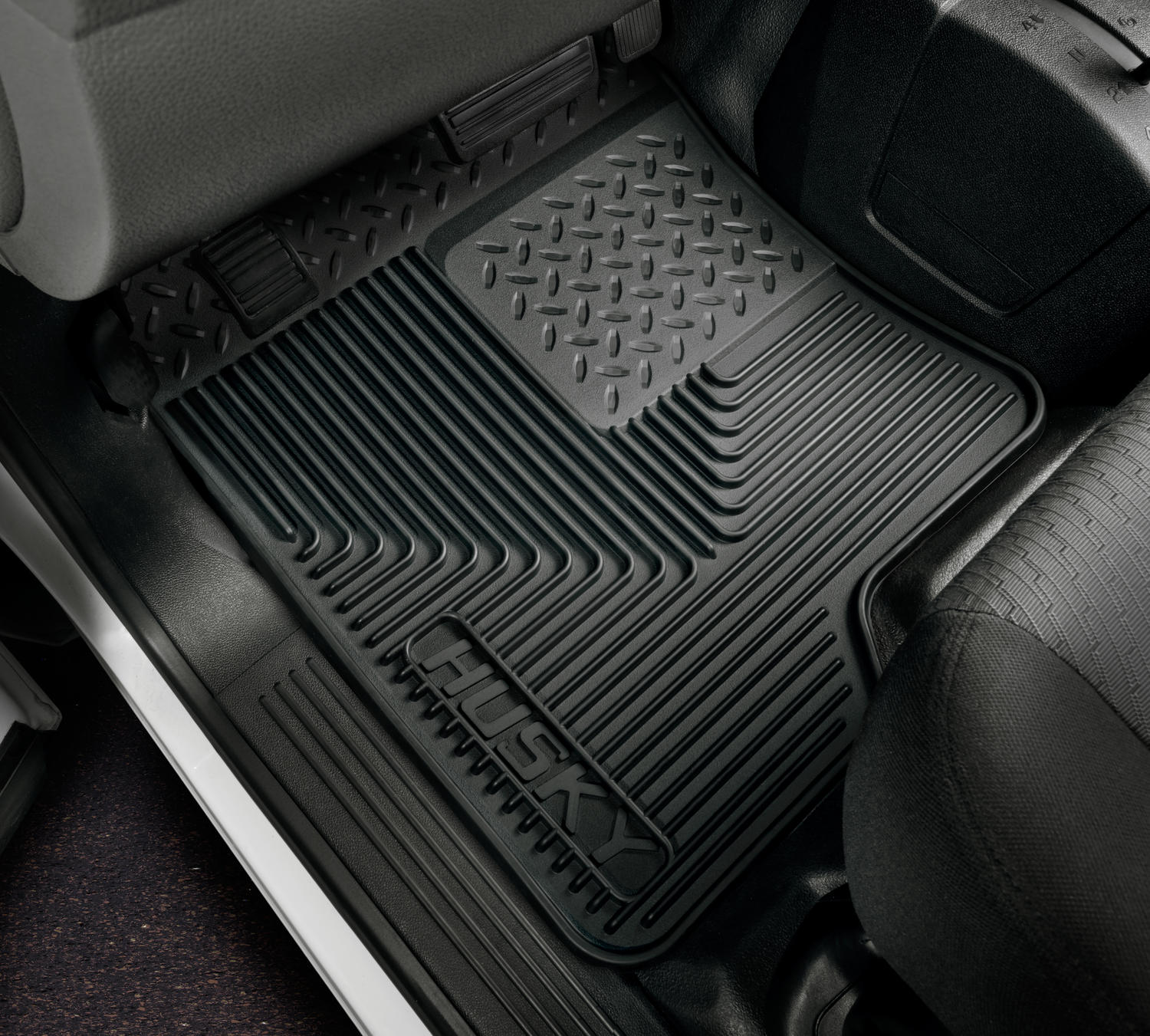 duty black itm rubber mat heavy on mats ford floor fit tailored tourneo custom sentinel