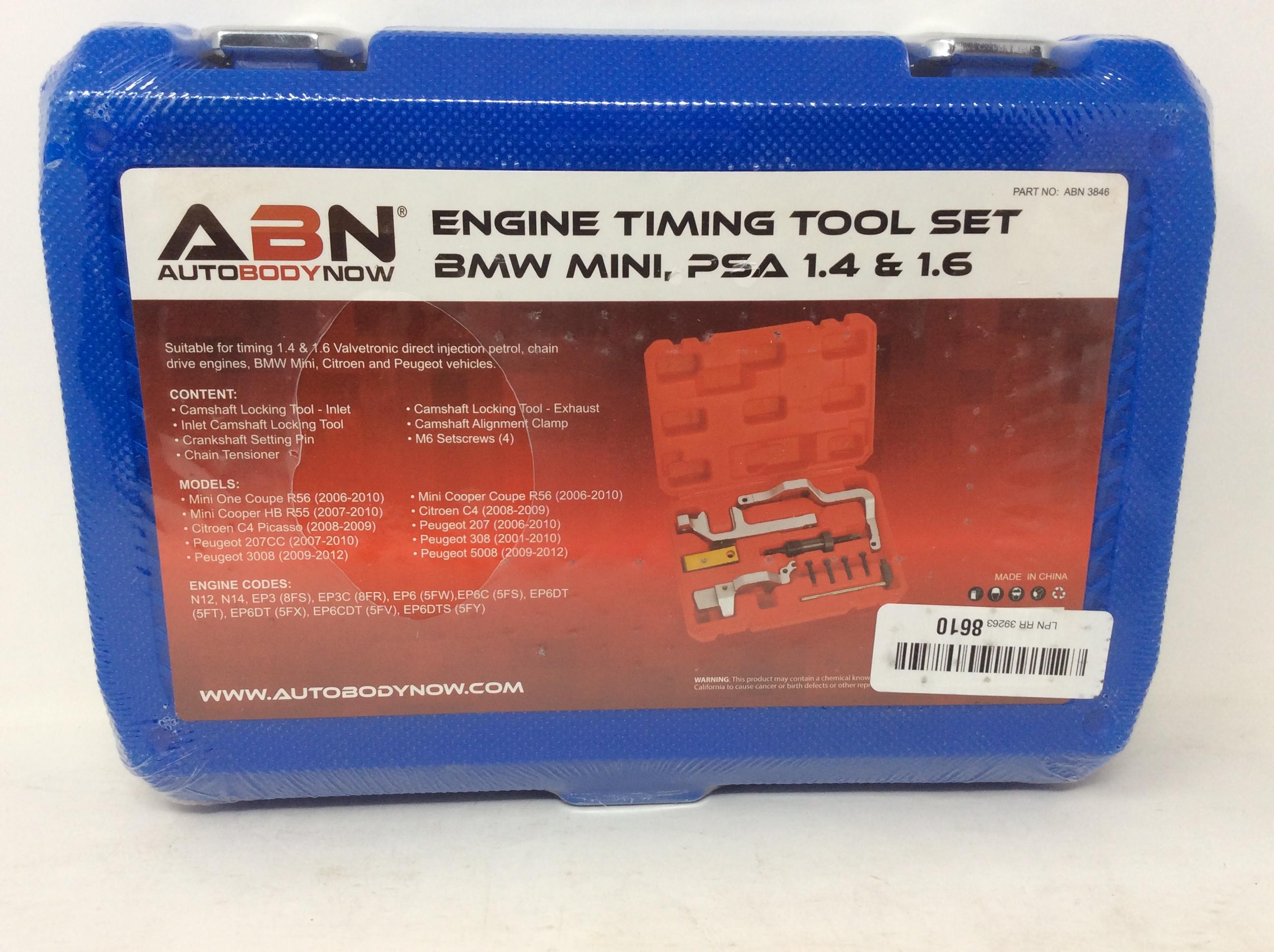 ABN Engine Timing Tool Set for Mini Cooper N12 Citroen N14 BMW Peugeot