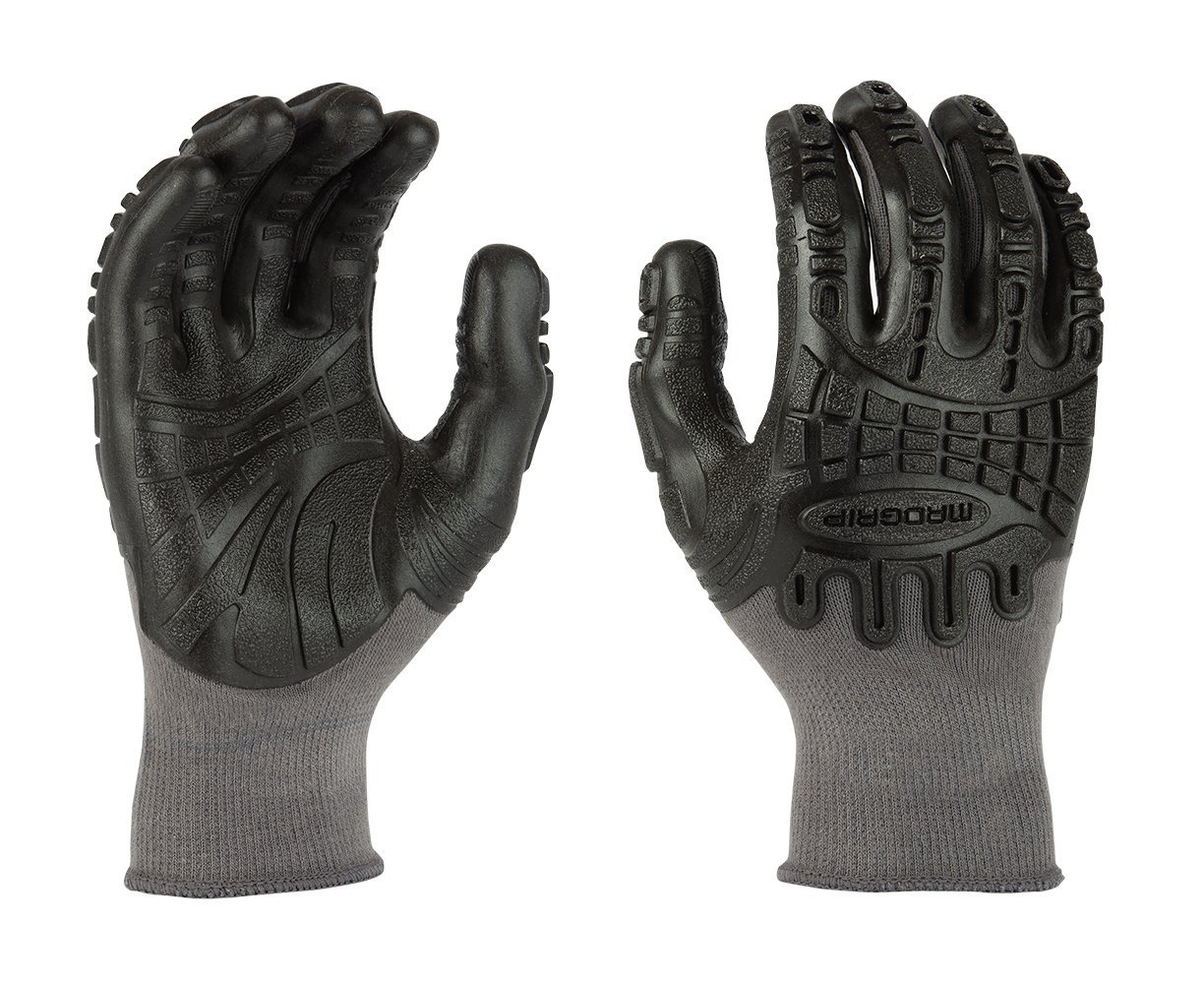 Lowes Work Gloves >> Details About Mad Grip F50 Thunderdome Impact Gloves Grey Black X Large