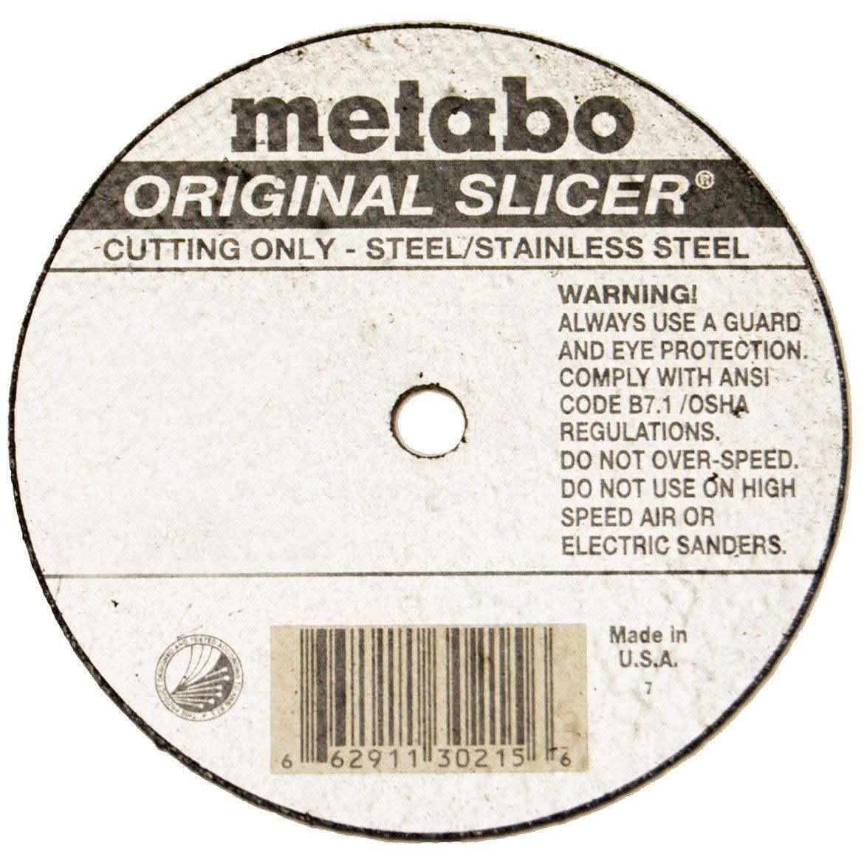 "Metabo 55-339 25pk 6/"" x 7//8/"" x .040 Cut Off Slicer Wheel Type1 /""flat/"" New"