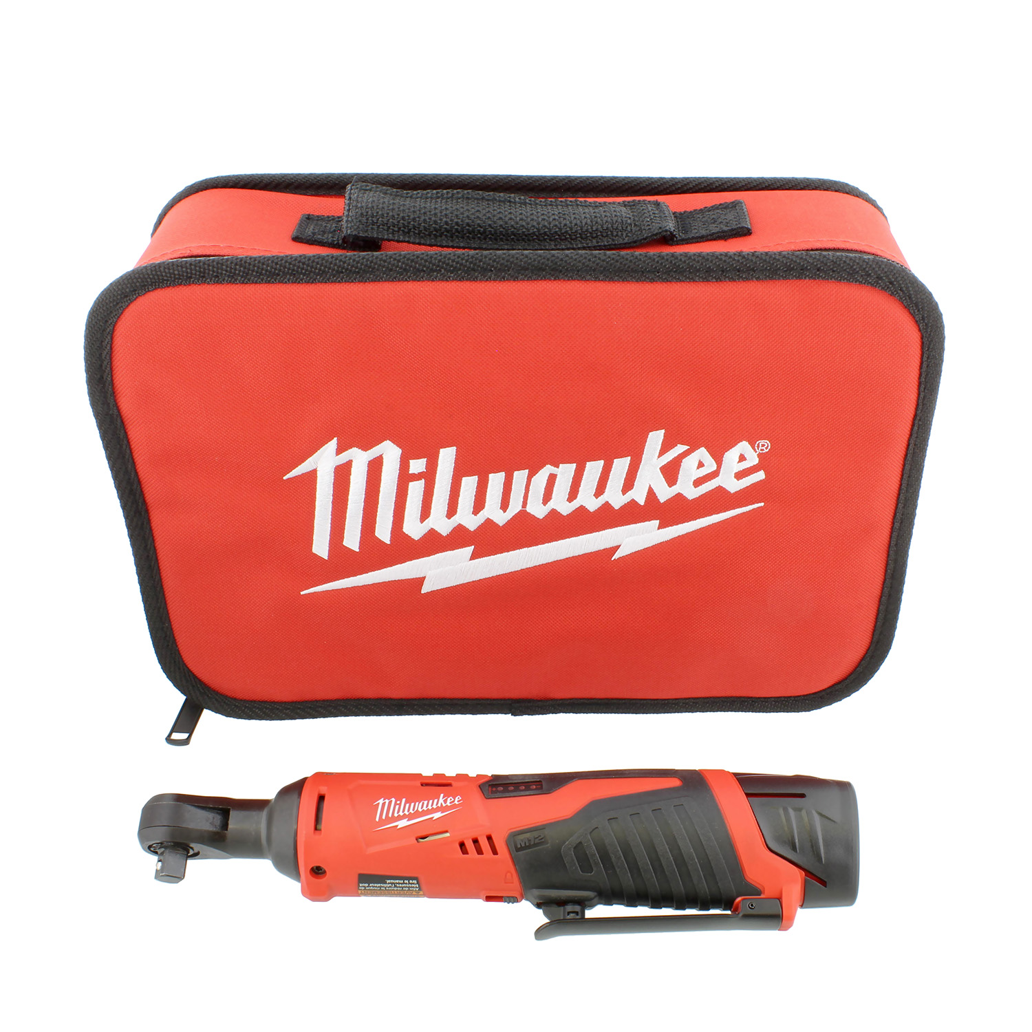 "Milwaukee 2457-21 3/8"" Inch Cordless M12 Lithium-Ion Ratchet Kit"