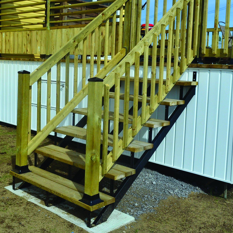 Charmant Details About Pylex 13903 Riser 3 Steps Steel Stair Stringer, Black (one  Unit)