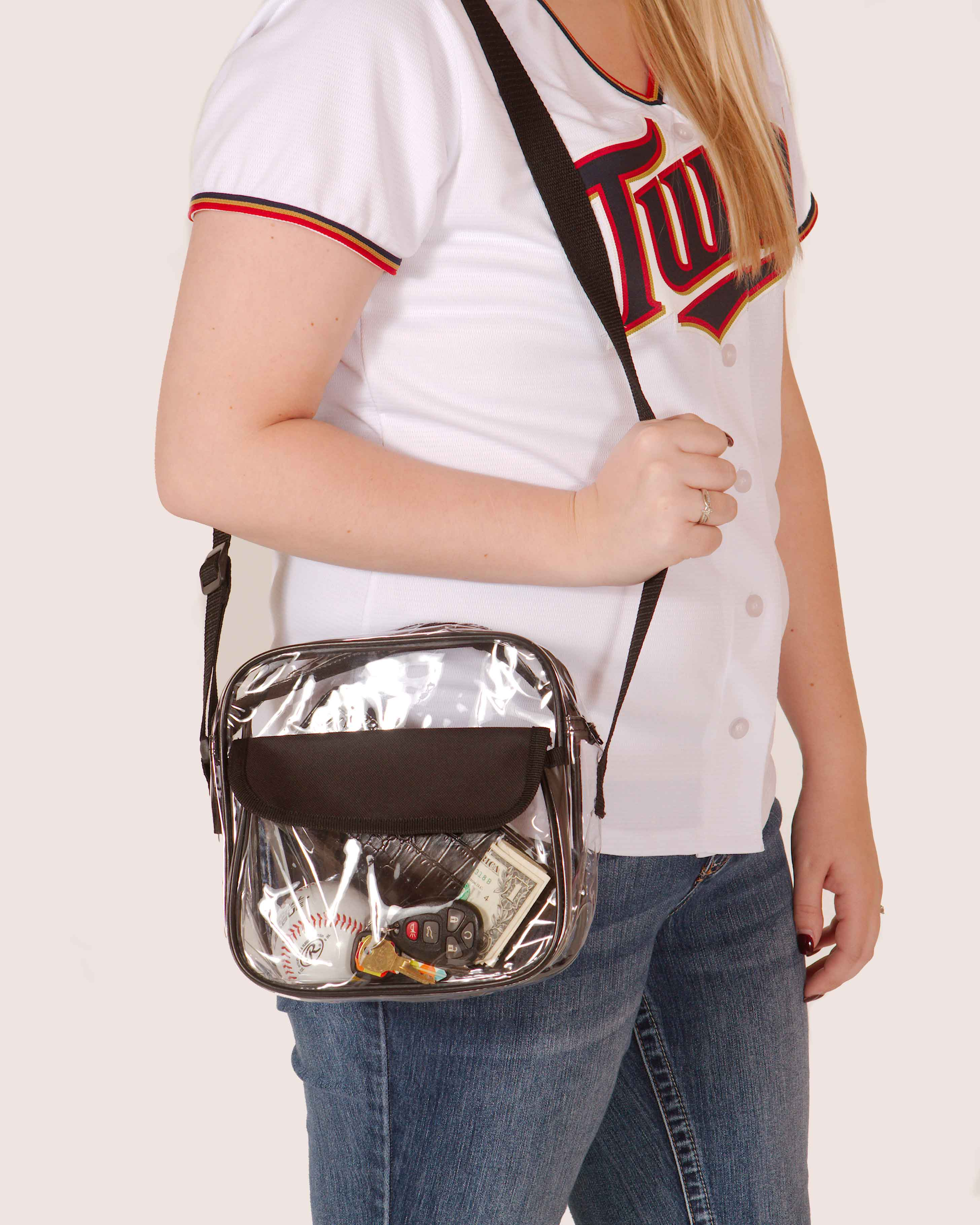 Clear-Purse-NFL-Stadium-Approved-Bag-with-Zipper-and-Shoulder-Strap thumbnail 30