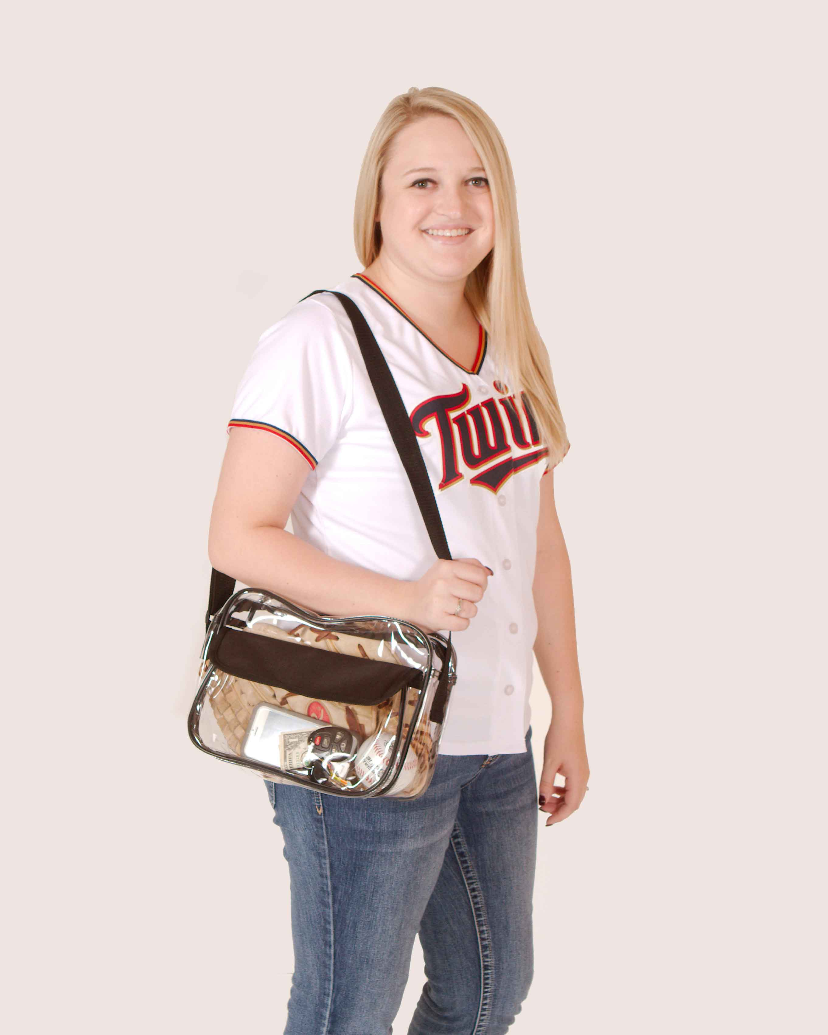 Clear-Purse-NFL-Stadium-Approved-Bag-with-Zipper-and-Shoulder-Strap thumbnail 13