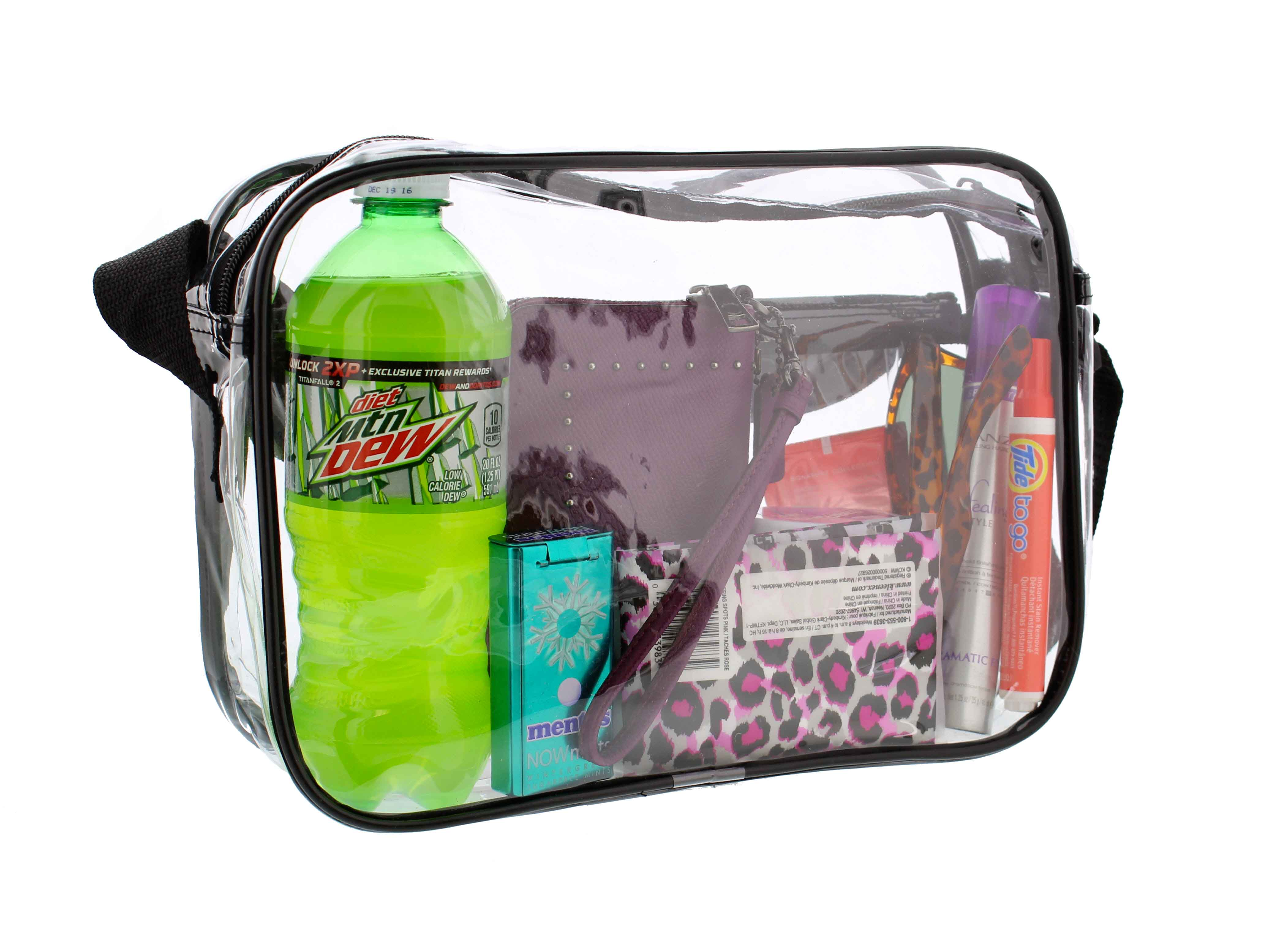 Clear-Purse-NFL-Stadium-Approved-Bag-with-Zipper-and-Shoulder-Strap thumbnail 12