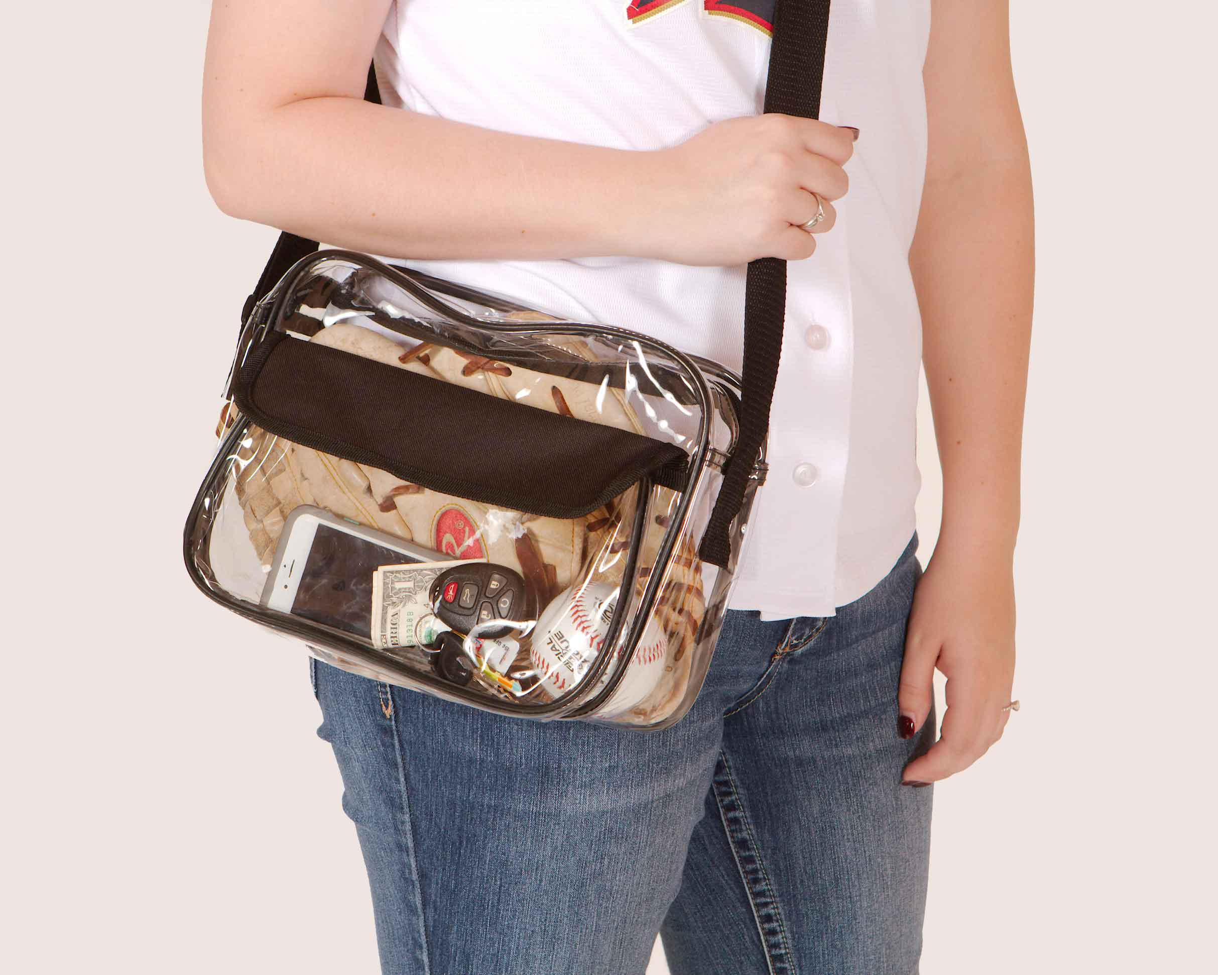 Clear-Purse-NFL-Stadium-Approved-Bag-with-Zipper-and-Shoulder-Strap thumbnail 16