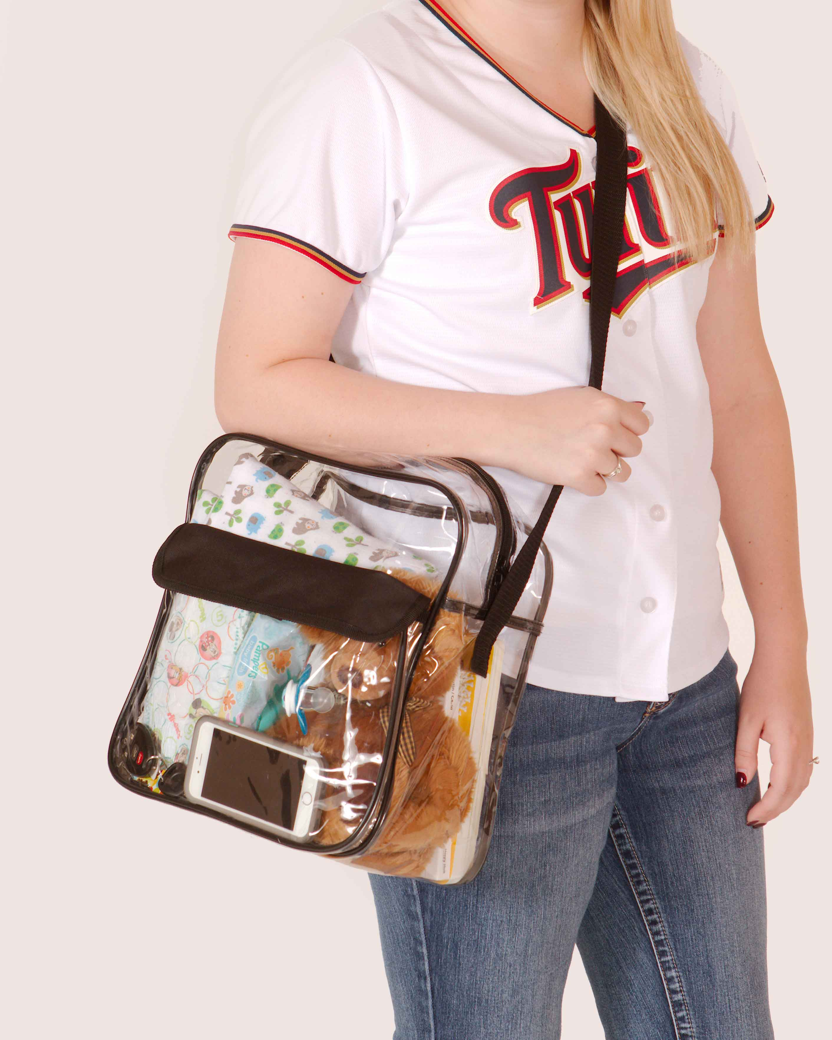 Clear-Purse-NFL-Stadium-Approved-Bag-with-Zipper-and-Shoulder-Strap thumbnail 22