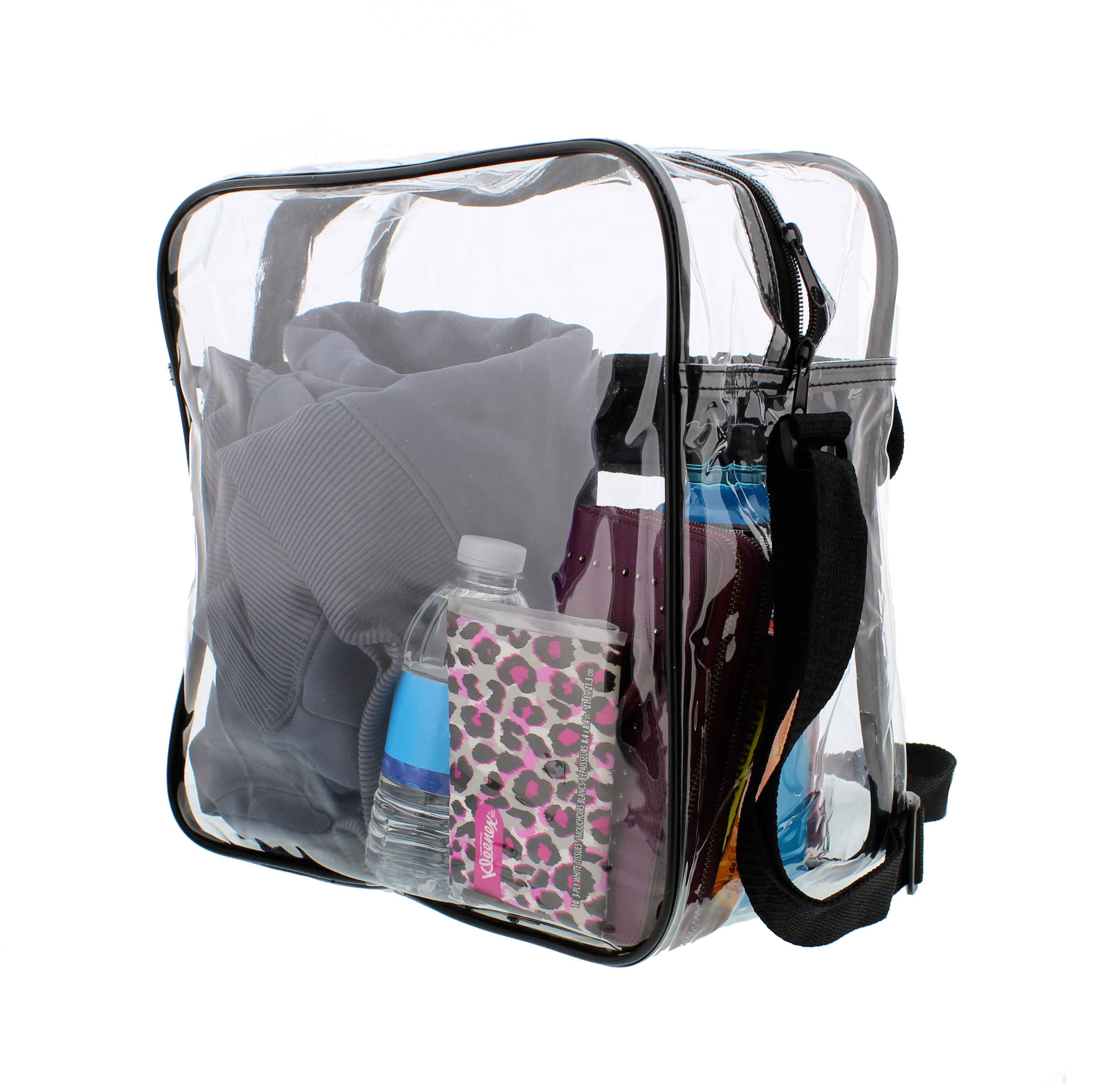 Clear-Purse-NFL-Stadium-Approved-Bag-with-Zipper-and-Shoulder-Strap thumbnail 23