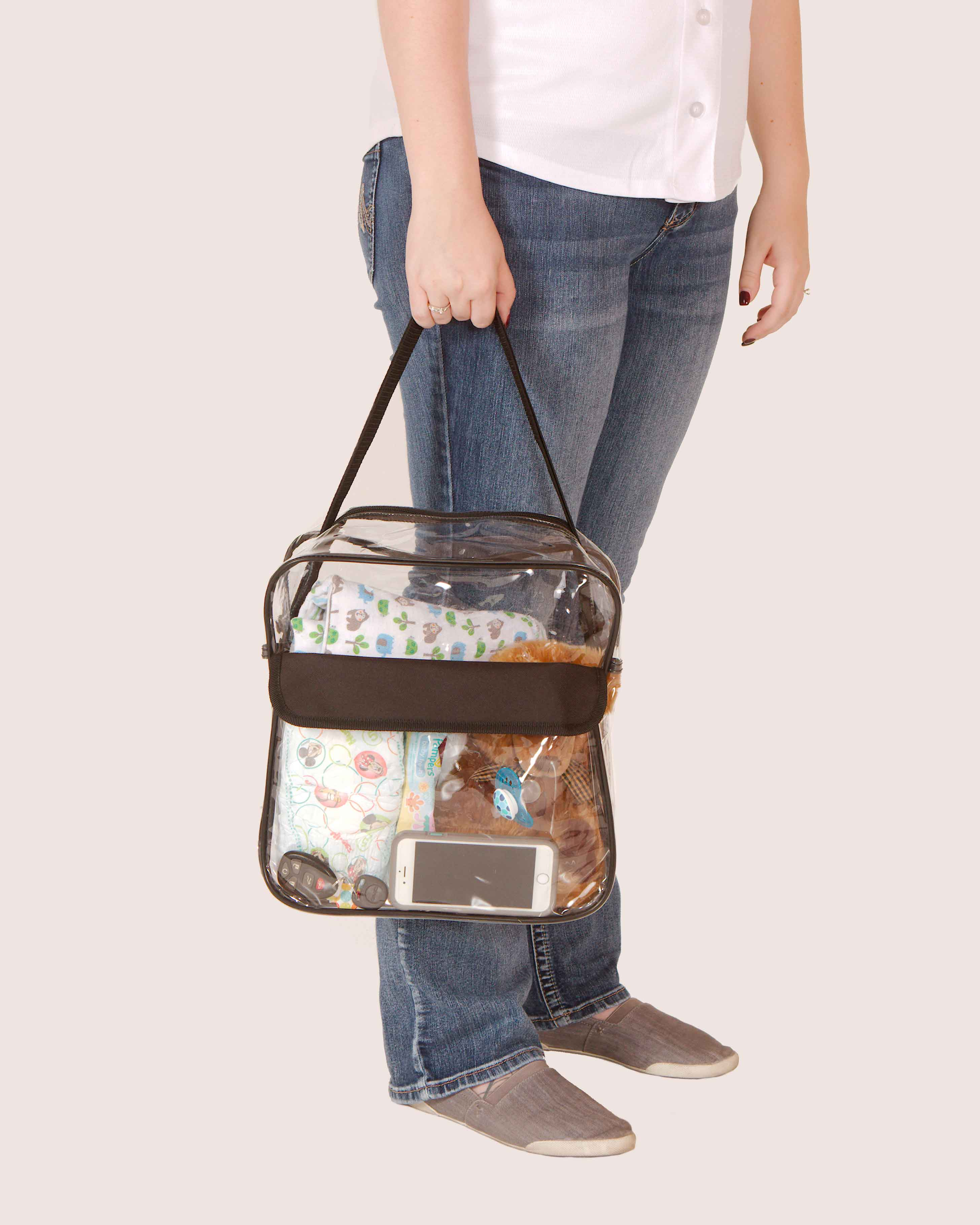 Clear-Purse-NFL-Stadium-Approved-Bag-with-Zipper-and-Shoulder-Strap thumbnail 24
