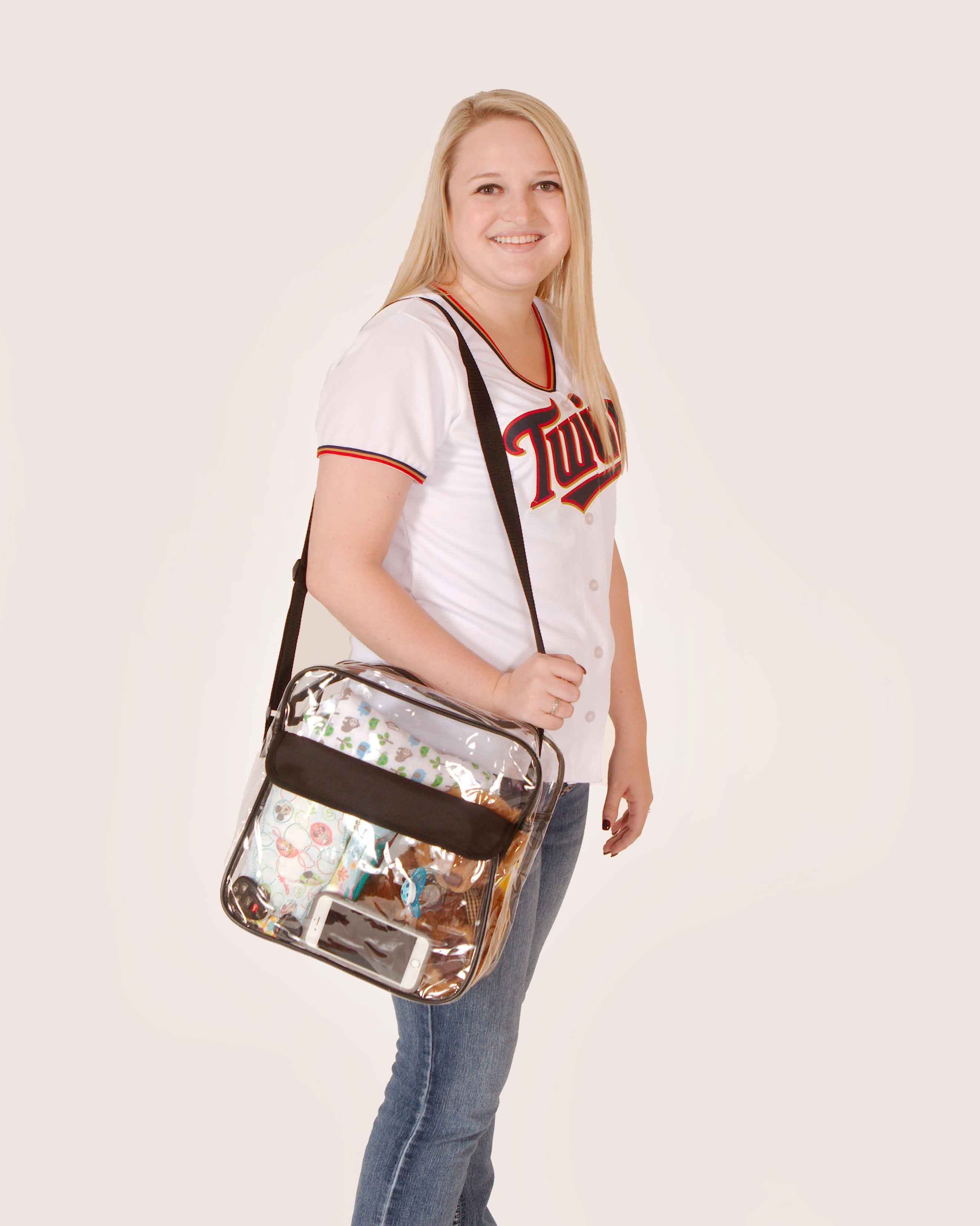Clear-Purse-NFL-Stadium-Approved-Bag-with-Zipper-and-Shoulder-Strap thumbnail 25
